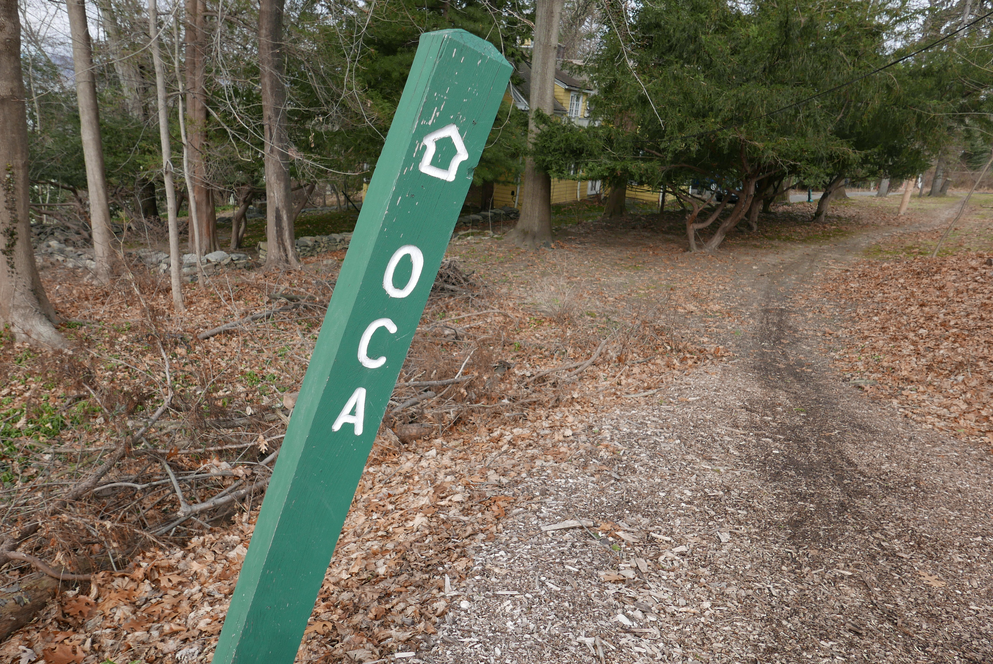 The OCA trail was marked pretty well. As it moves south, through some pretty densely populated northern suburbs of New York City, the train maneuvers through backyards, parking lots, stairs and regular streets.