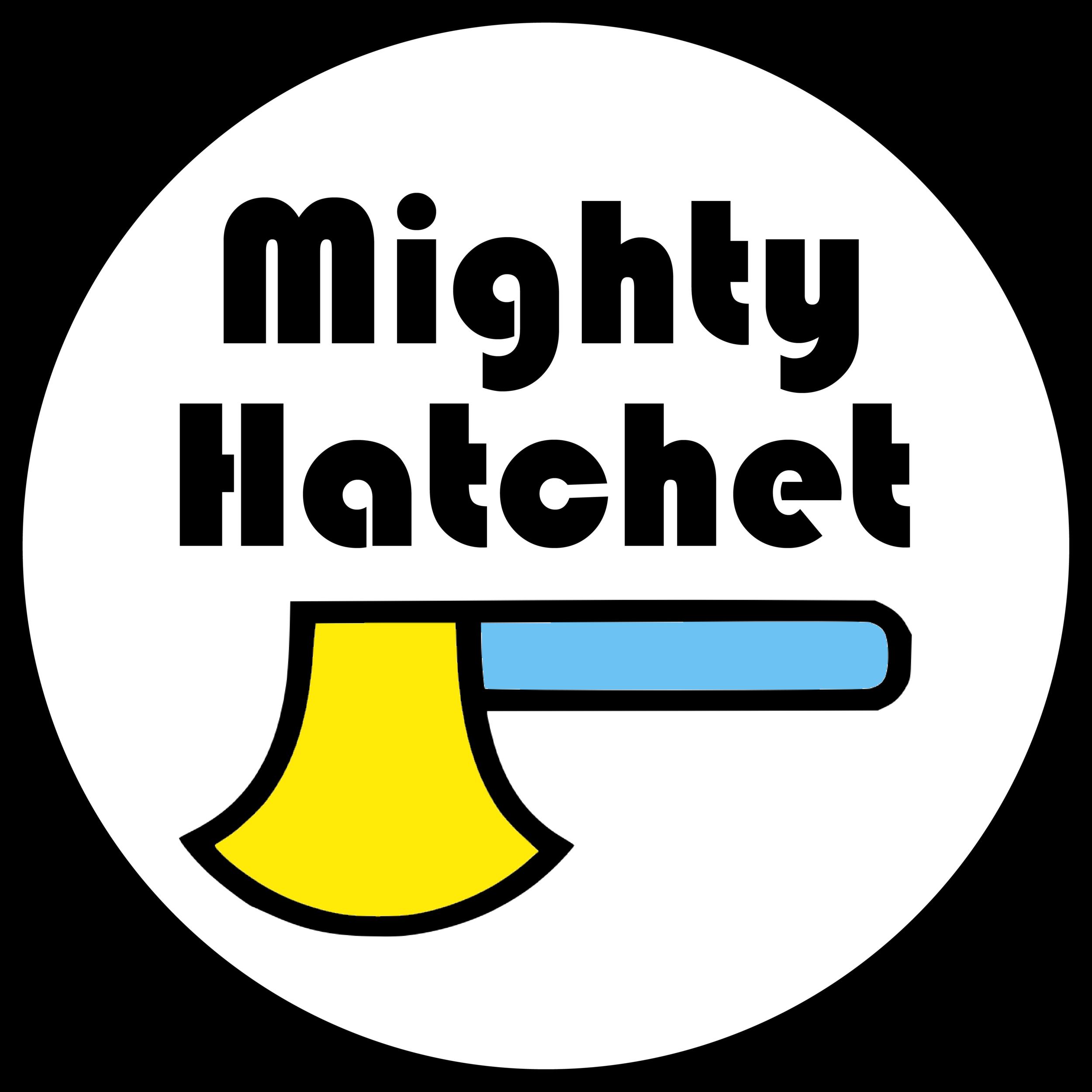 mighty hatchet Logo white circle.png