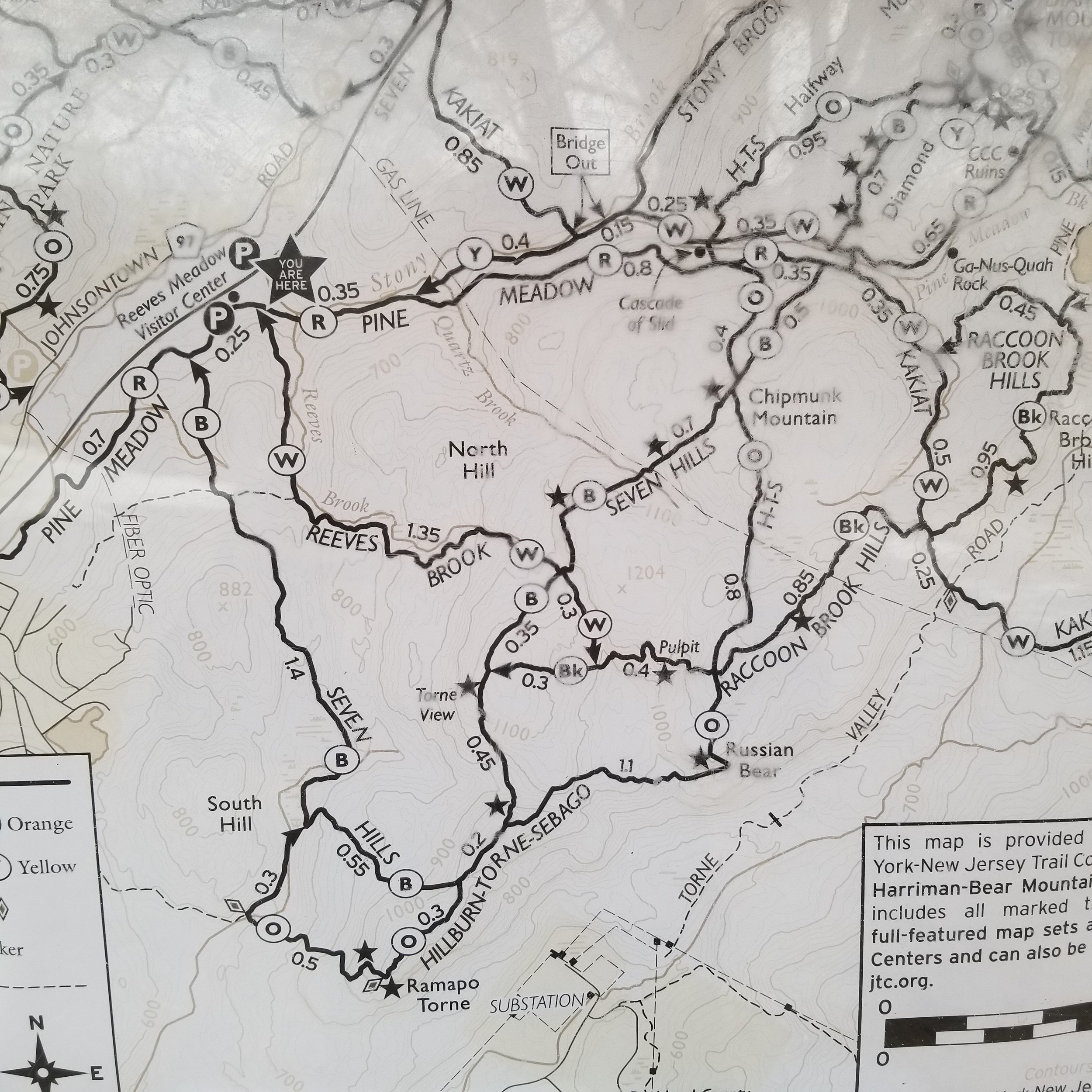 Following the advice of the recently-interviewed Adventurer and First-Responder Mark Silverman (Listen to  Bike Shop Radio ), I took a picture of the trail map as posted on the Ranger Station board. This would hopefully augment my maps and digital files with the latest trail updates.