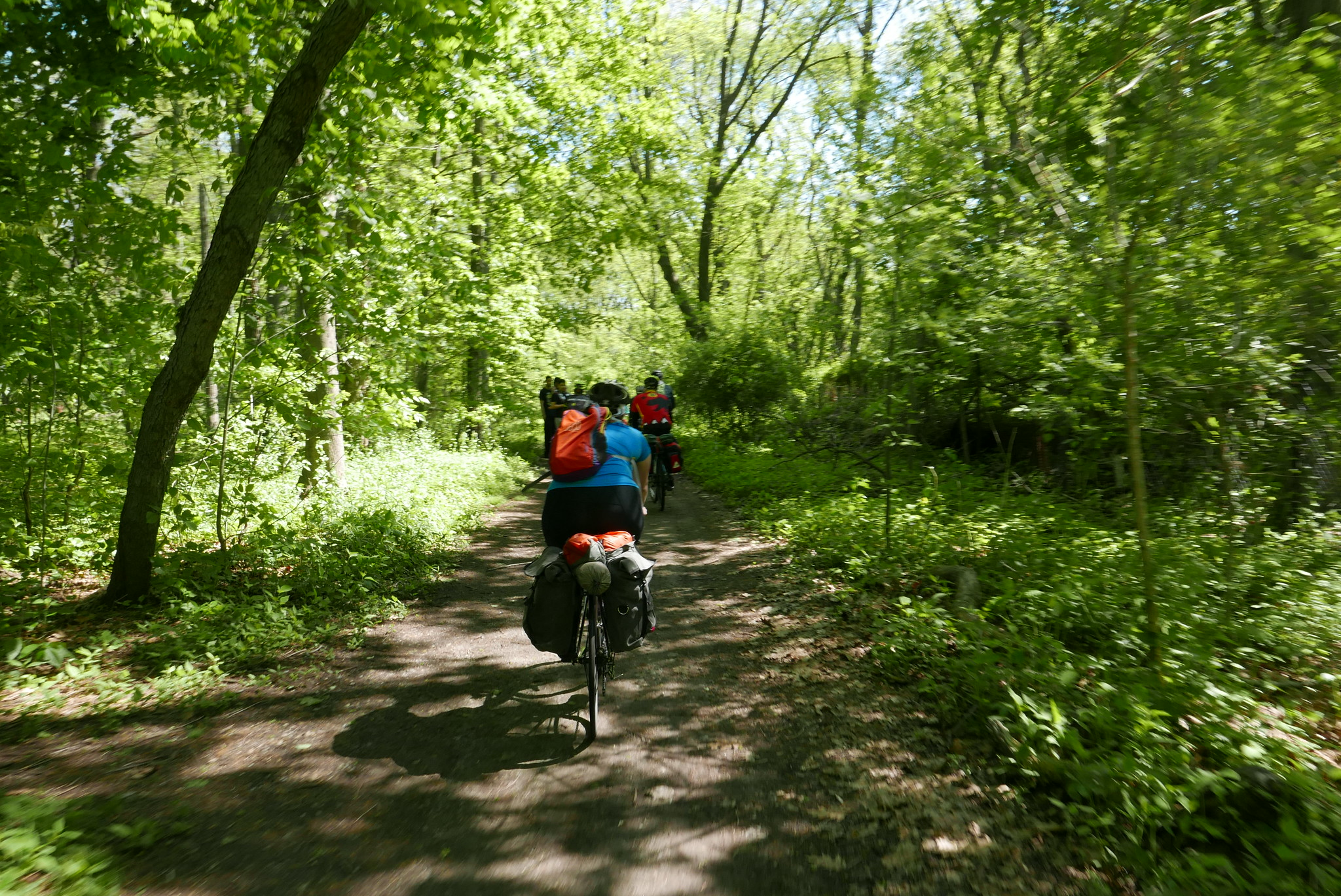 The group then venture north into Westchester County via a 1 mile strip of the Old Putnam Trail