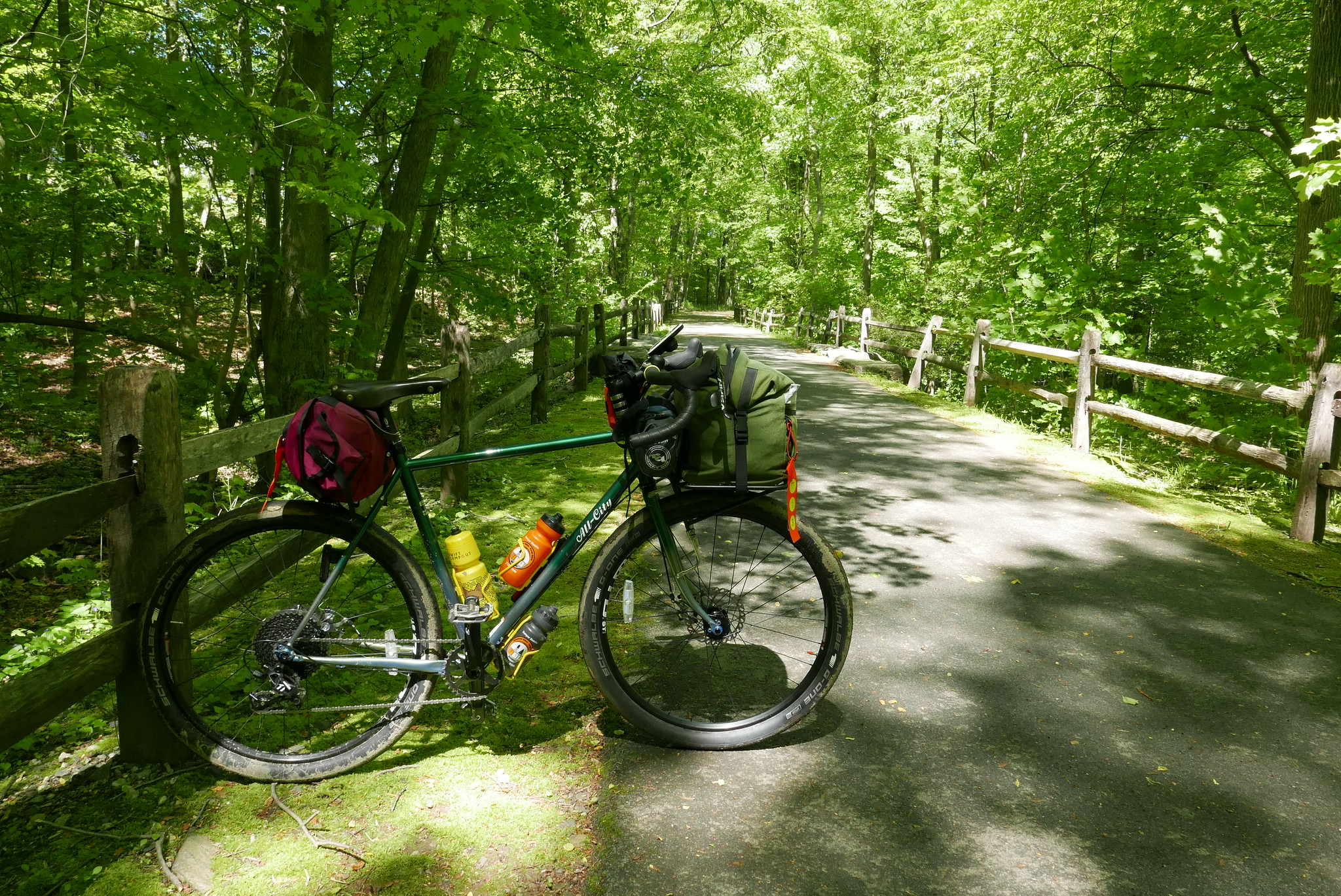 Mile 16 to 28 is sopent on the South County Trailway