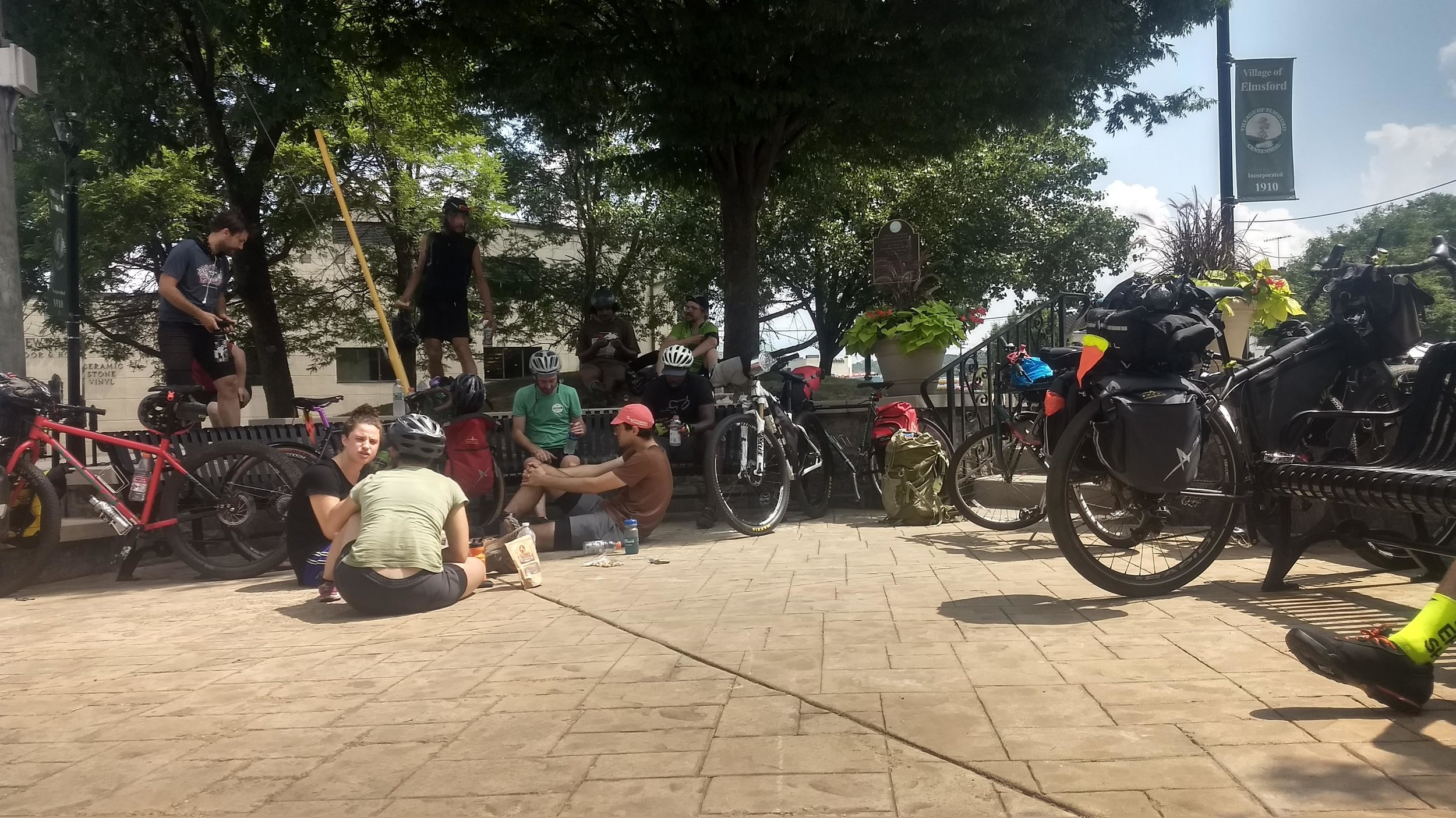 Mile 28 in a Lunch Stop at Elmsford. Photo by @ginaridesbikes (Instagram)