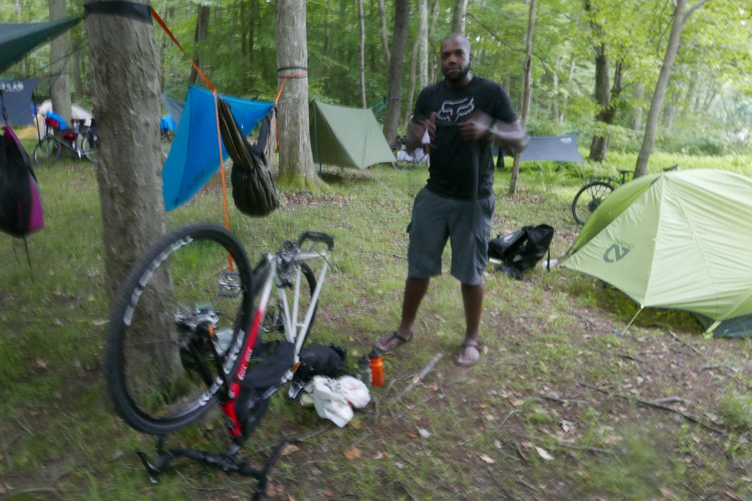 Campsite repairs by Prentiss