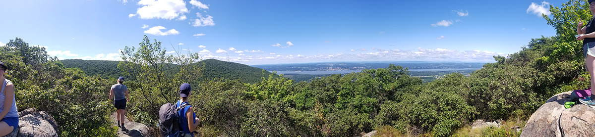 View from overlook to the west