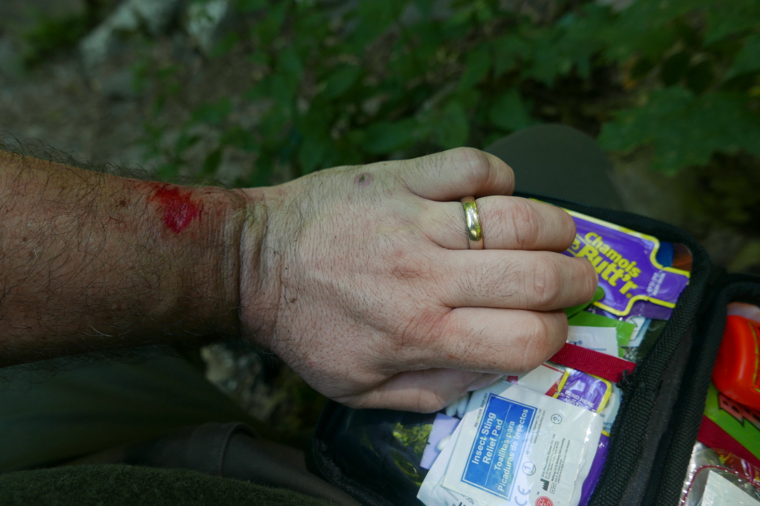 This hiker is Wilderness First Aid certified!