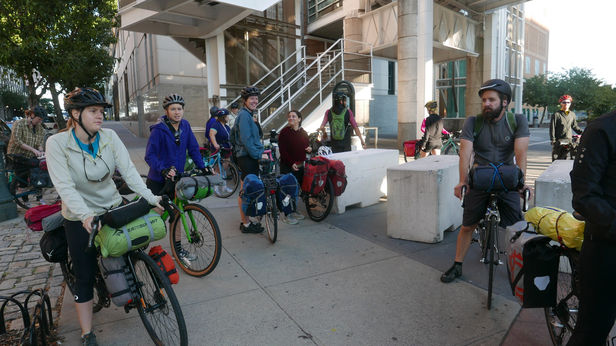 Launch of ride, at Chambers Street and the Hudson River Greenway
