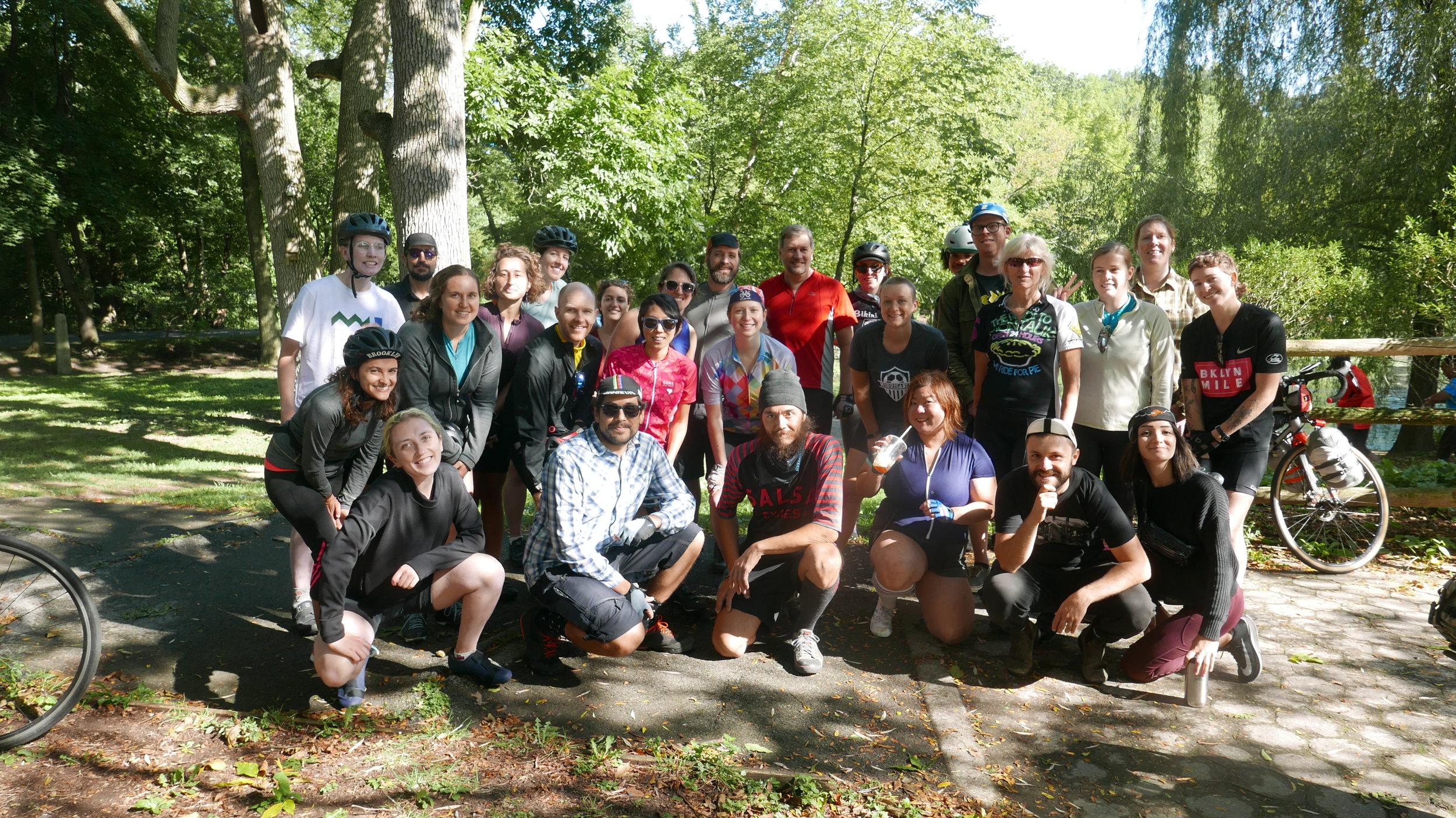 Partial group picture, Van Cortlandt Park, Bronx