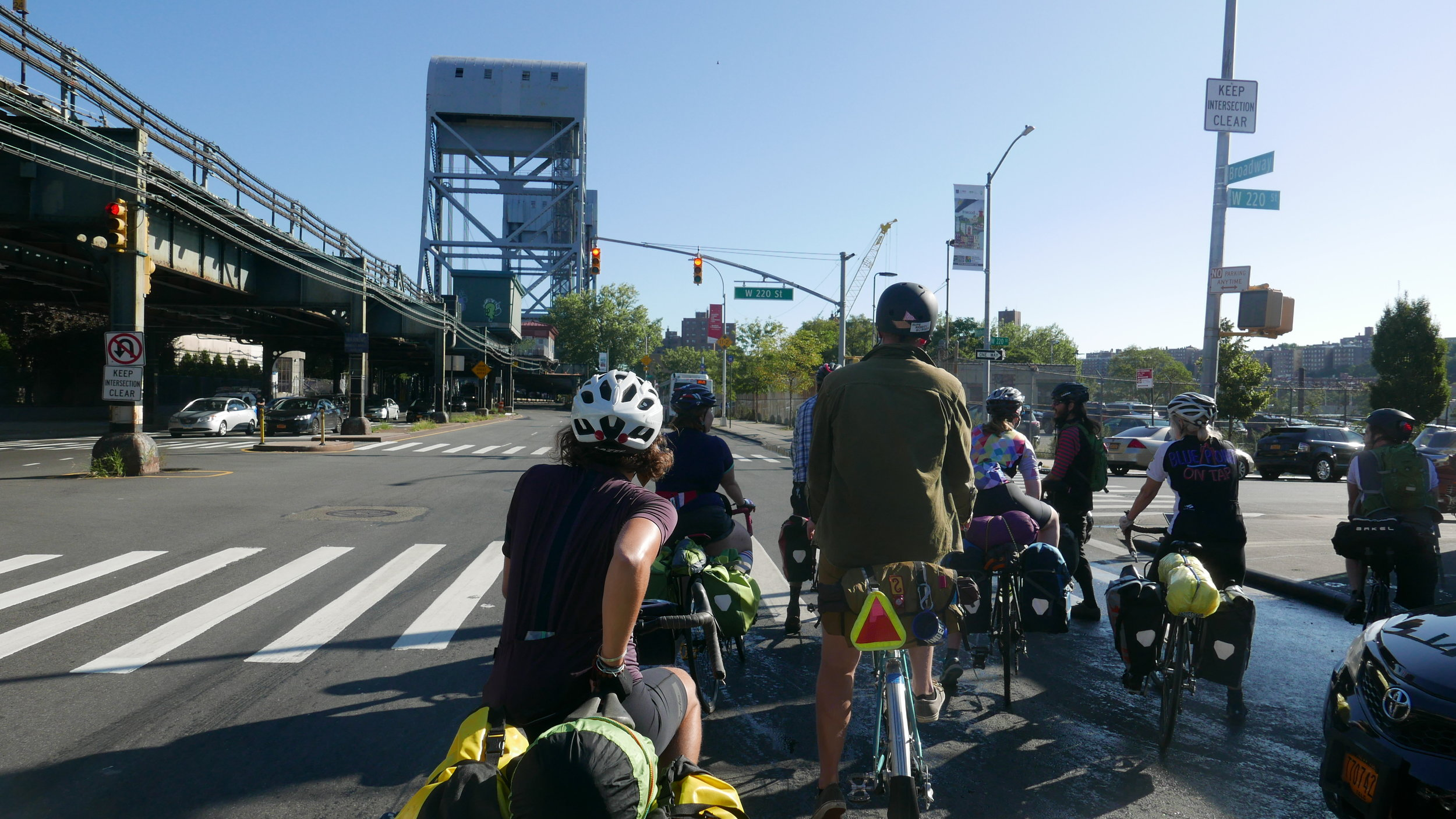About to cross the Broadway Bridge into the Bronx