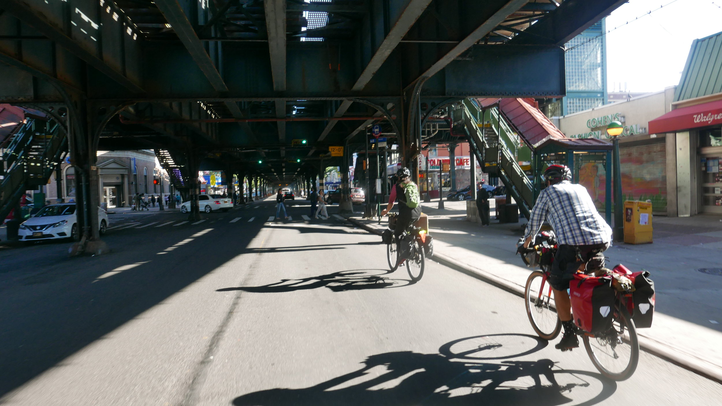 Shooting the gap below the elevated subway in the Bronx