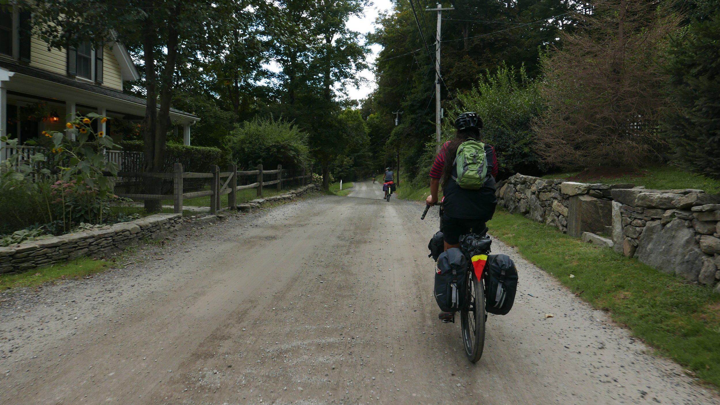 We got some gravel riding in