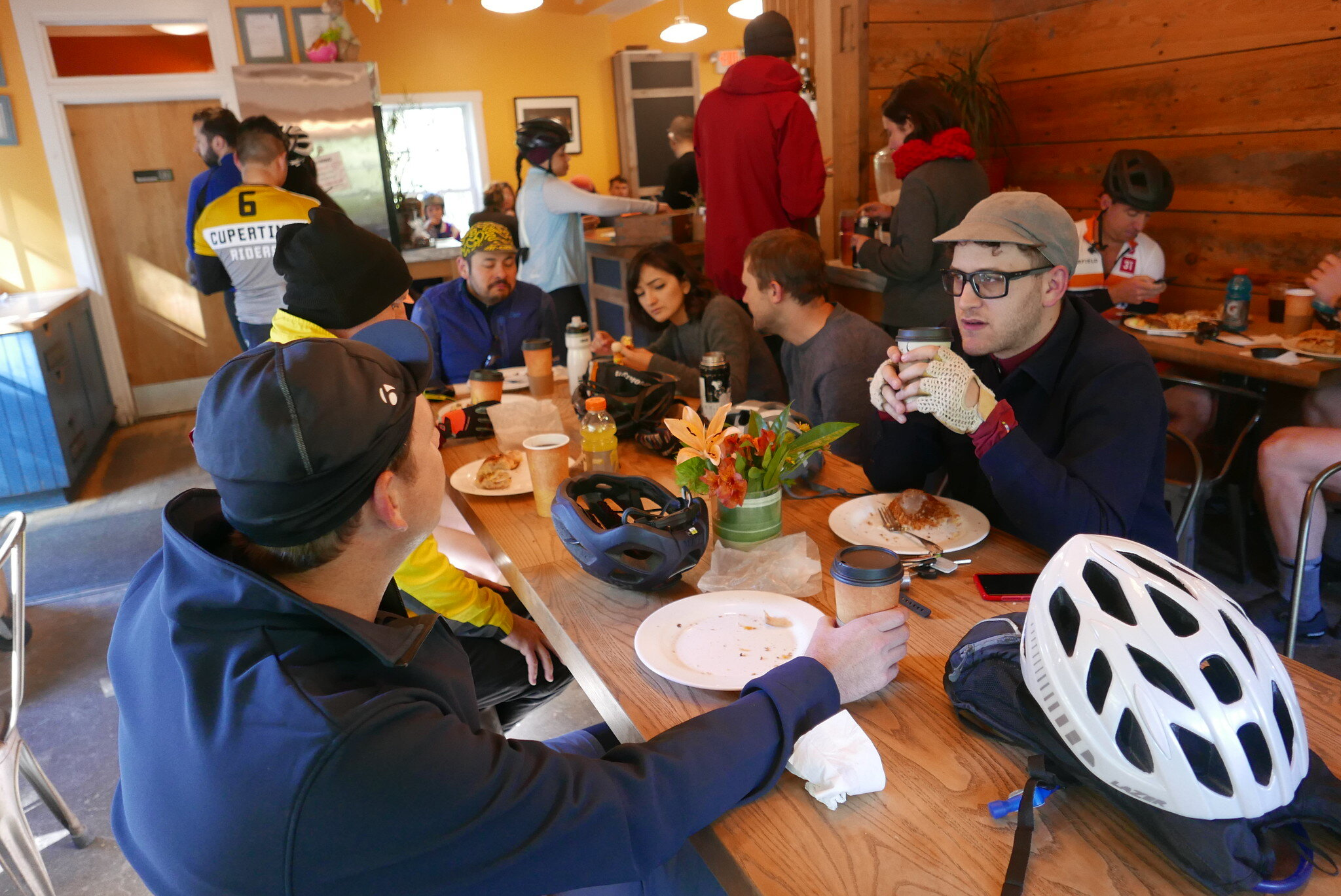 Food pitstop at mile 24 at the 9W Market