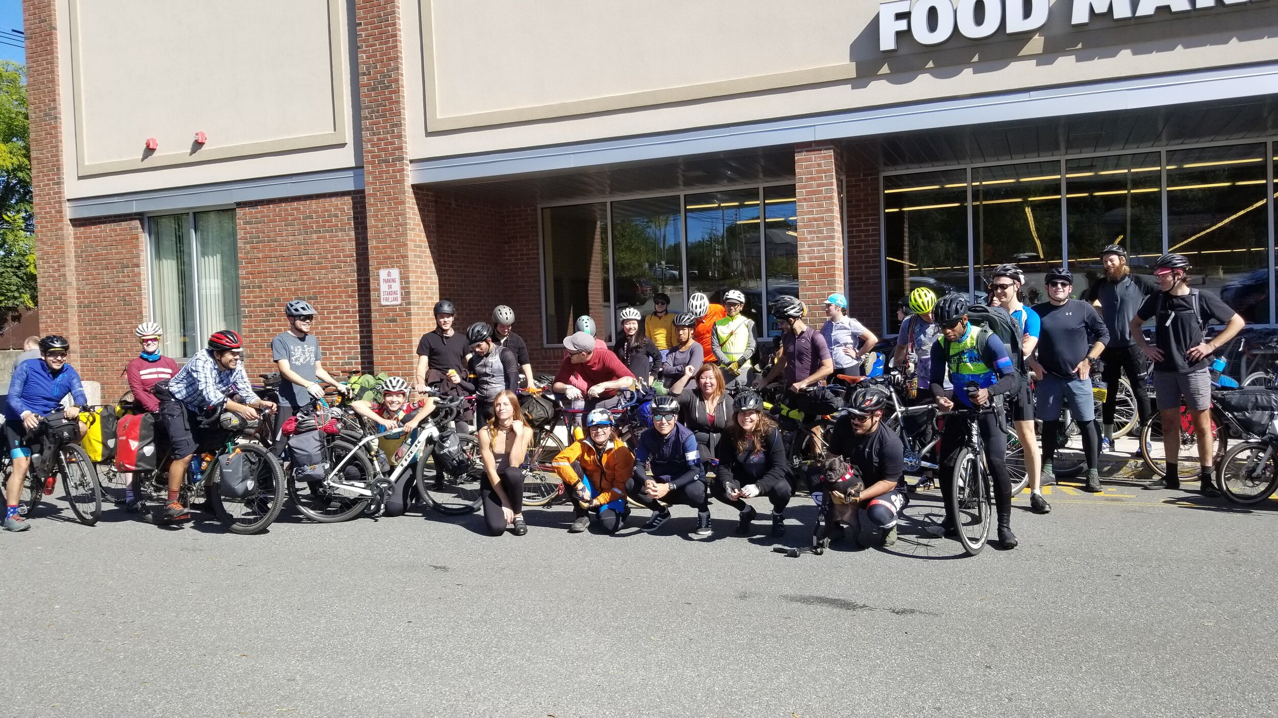 Food stop at the Aldis in Haverstraw at mile 41