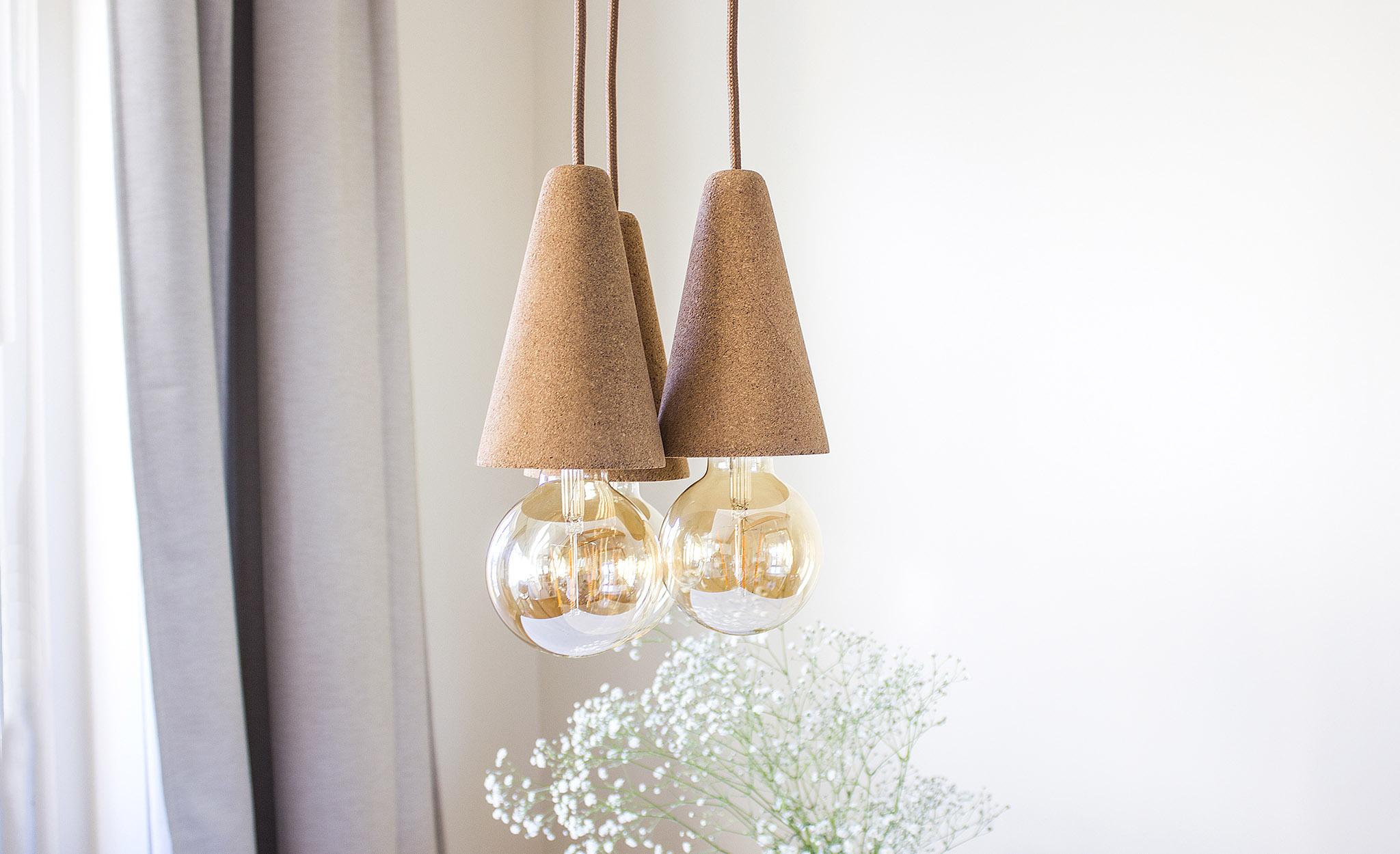 Galula Sino pendant lamp light cork