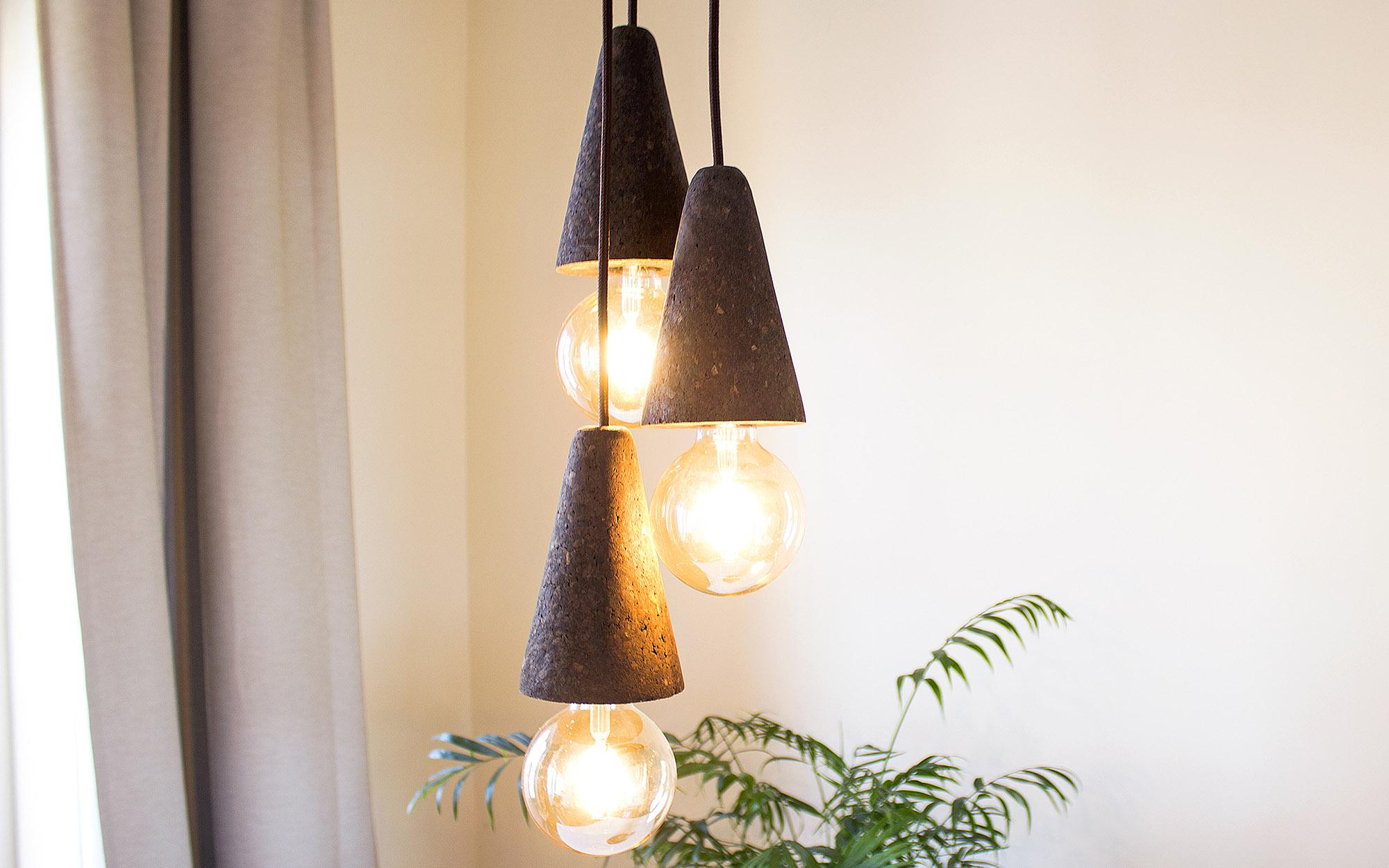 Galula Sino pendant lamp dark cork