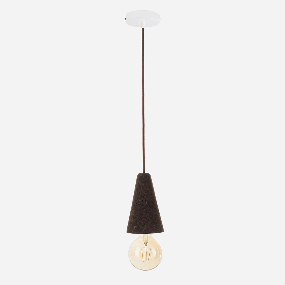 Galula Sino dark cork pendant lamp