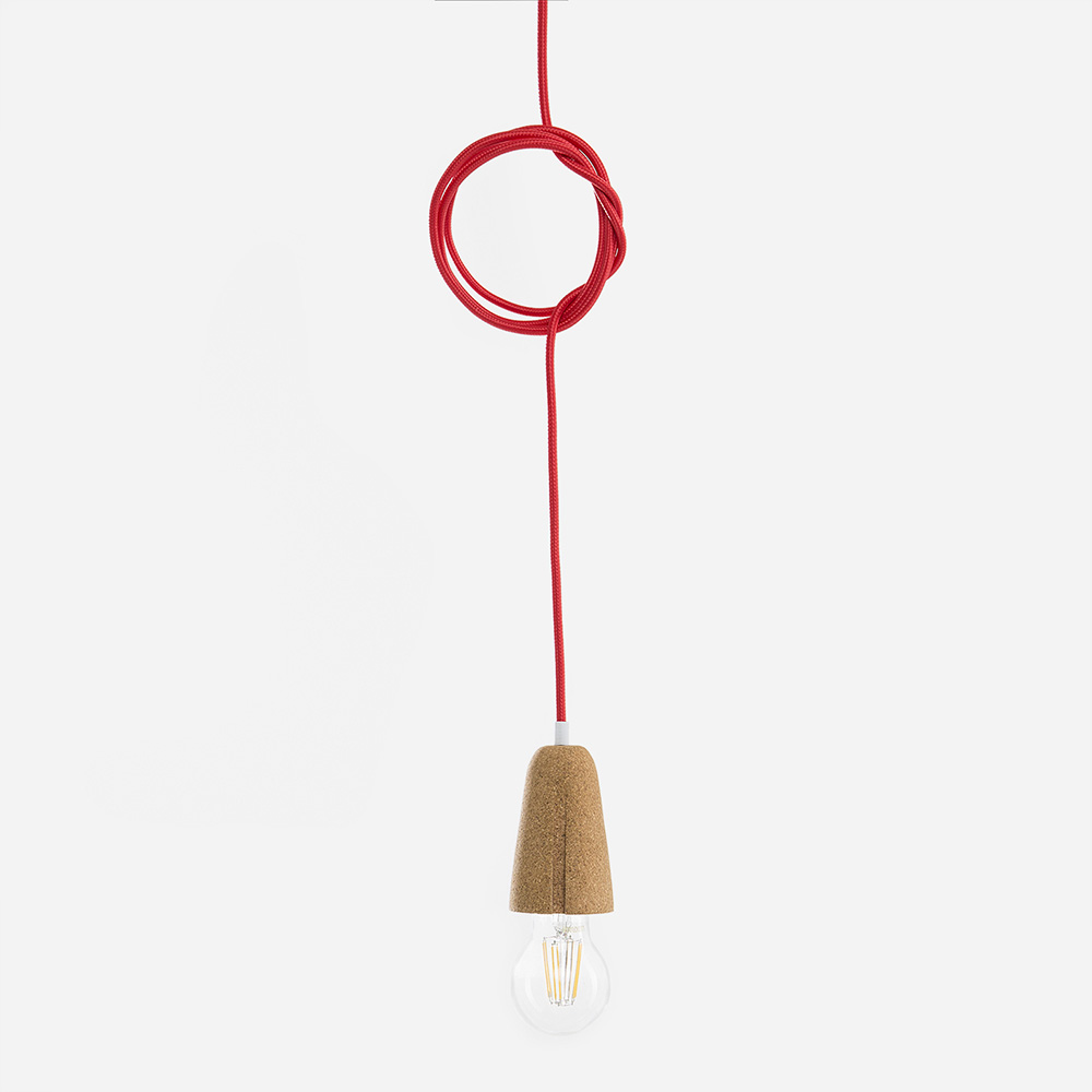Galula Sininho cork pendant lamp