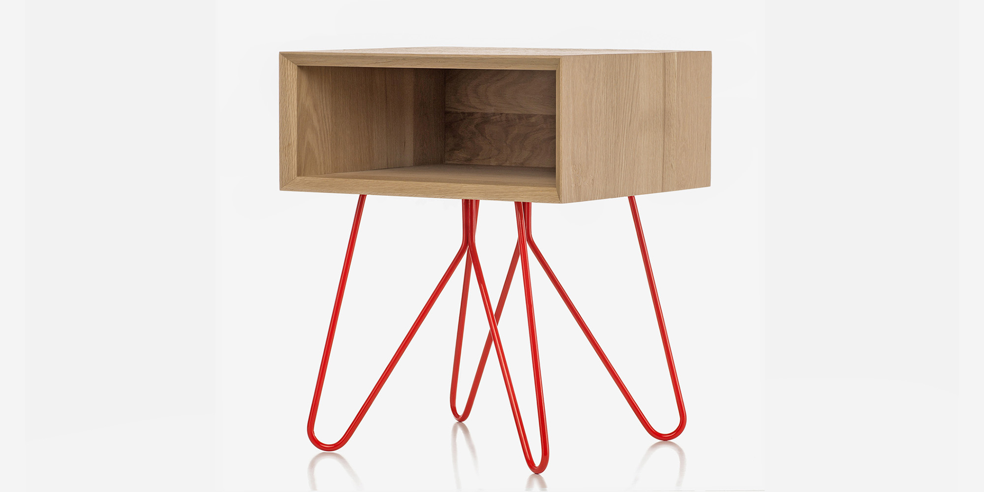 Galula Nove wood bedside table