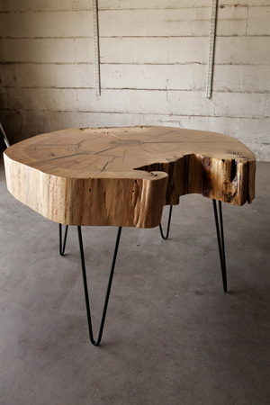 End Grain Red Oak Coffee Table Hardwood Reclamation