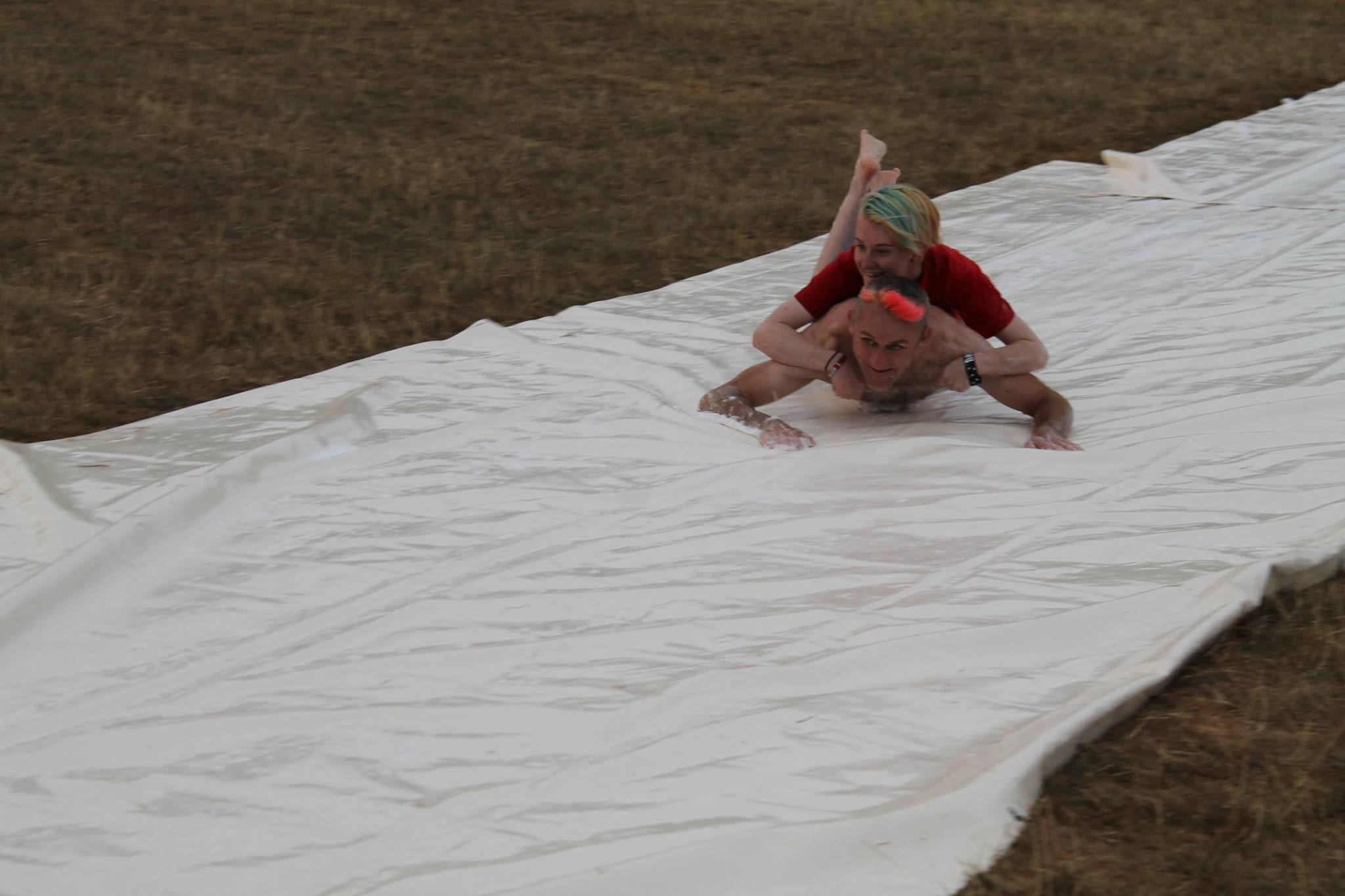 Tweedy & Willow on the slip and slide by Sharon Digweed