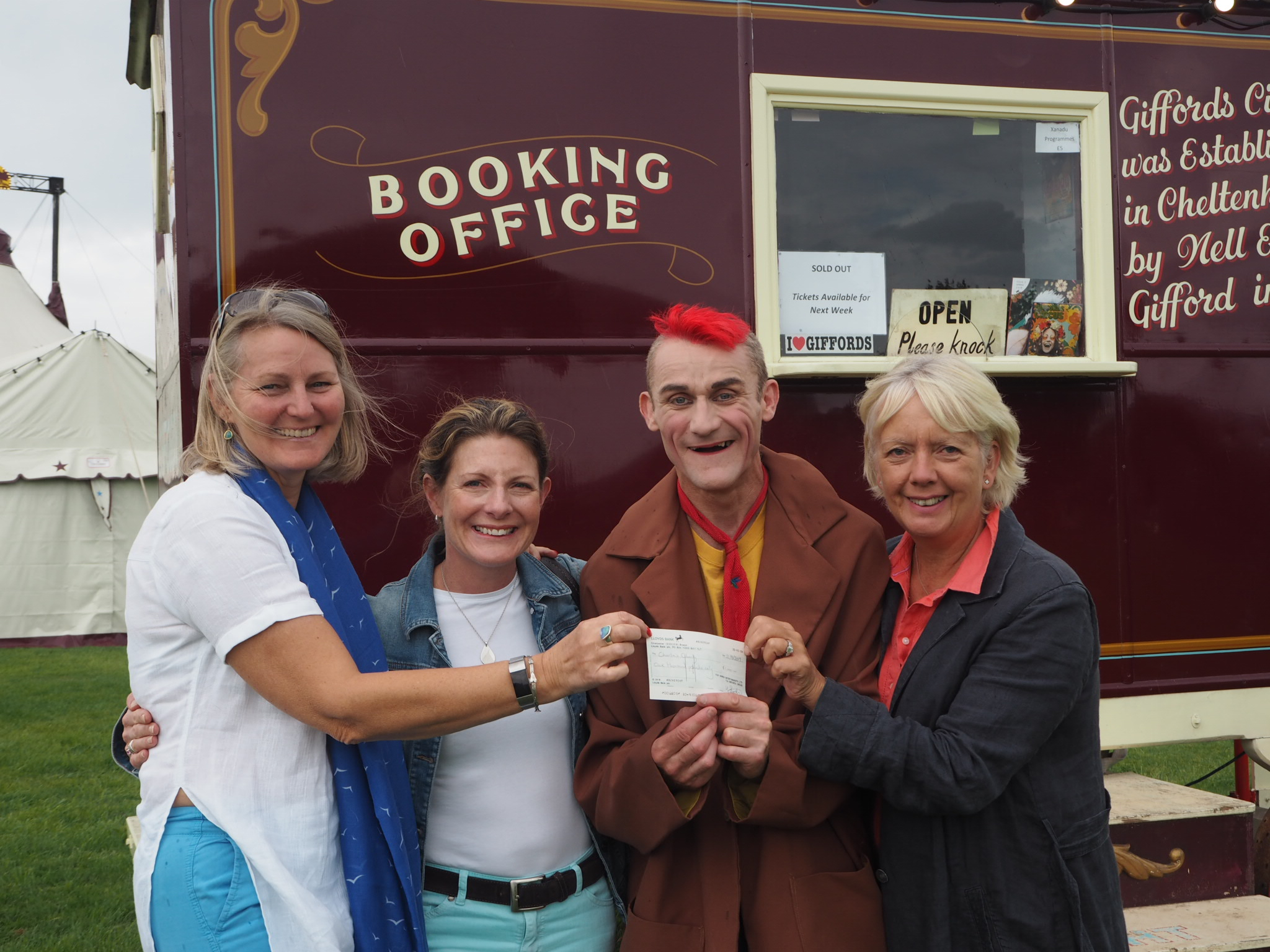 (Photo from left to right) Di Wilson, Abigail Gayer, Tweedy and Jane Lamb of Charlie's Charity