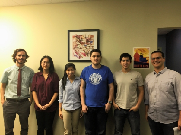 From Left to Right: Will Knight, Sydney Bailes, Michelle Lu, Zack Bapty, Ammar Abdelwahed, and our Project Manager, Brandon Knight