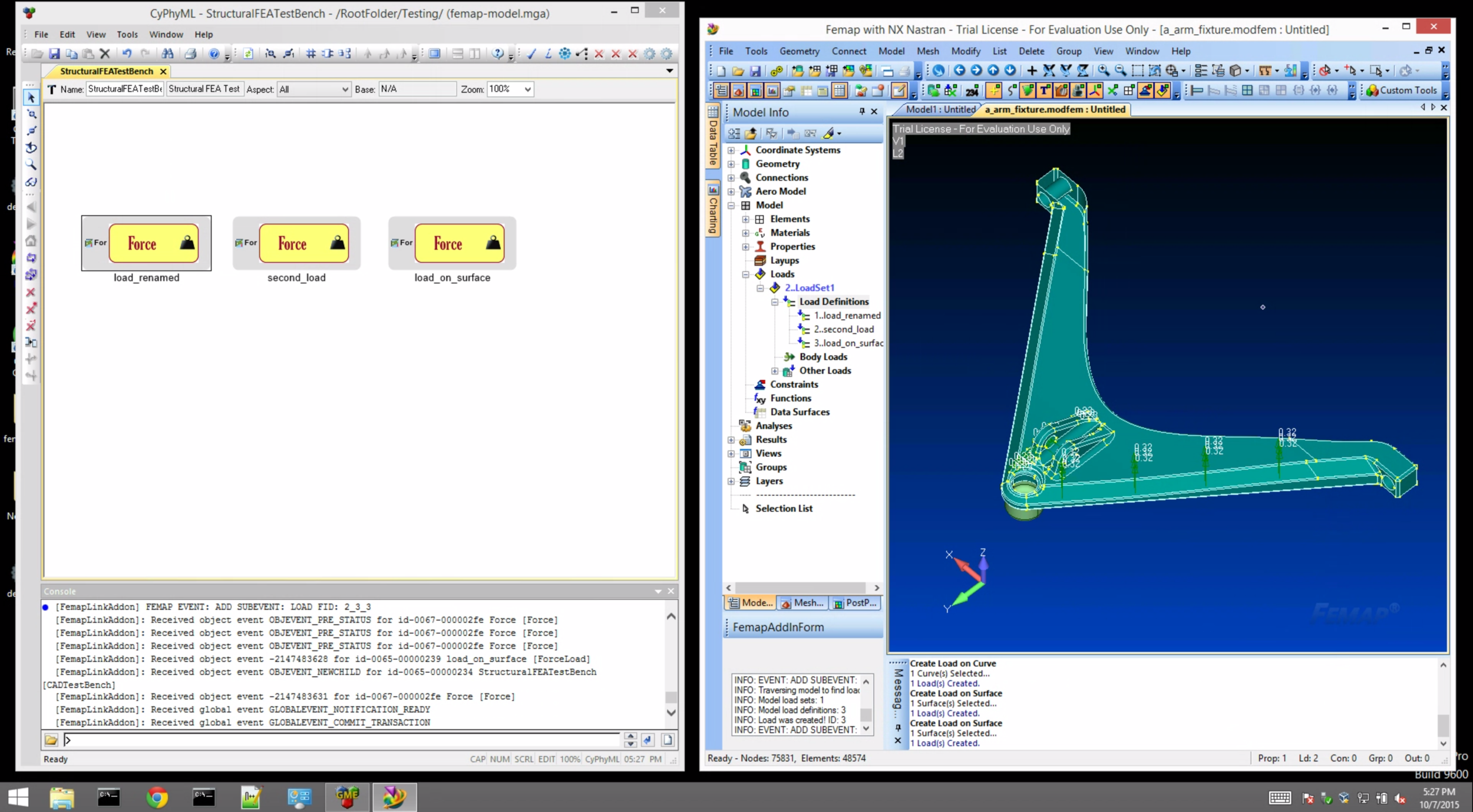 A real-time link between Femap and a system modeling tool that captures FEA test specifications.