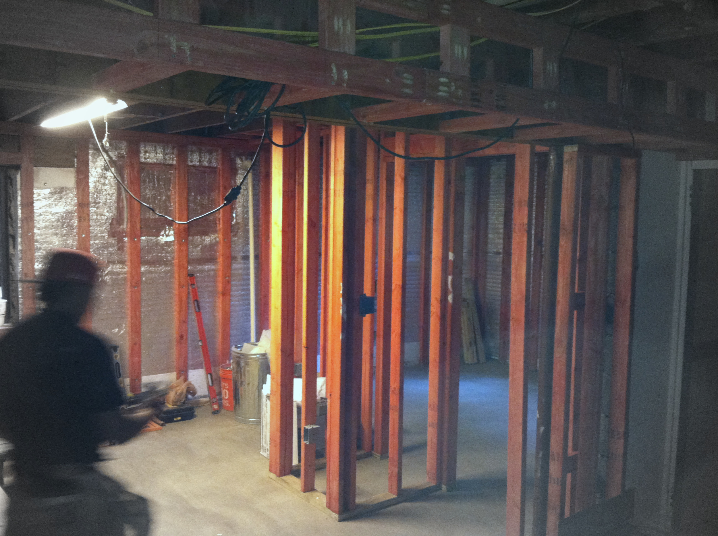 Framing Basement Bedroom & Office