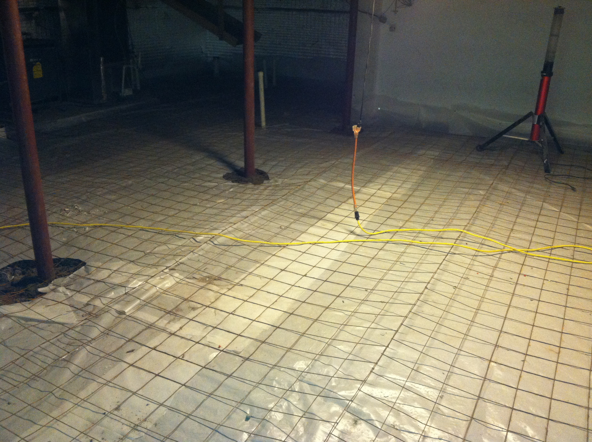 New Vapor Barrier Floor Cover