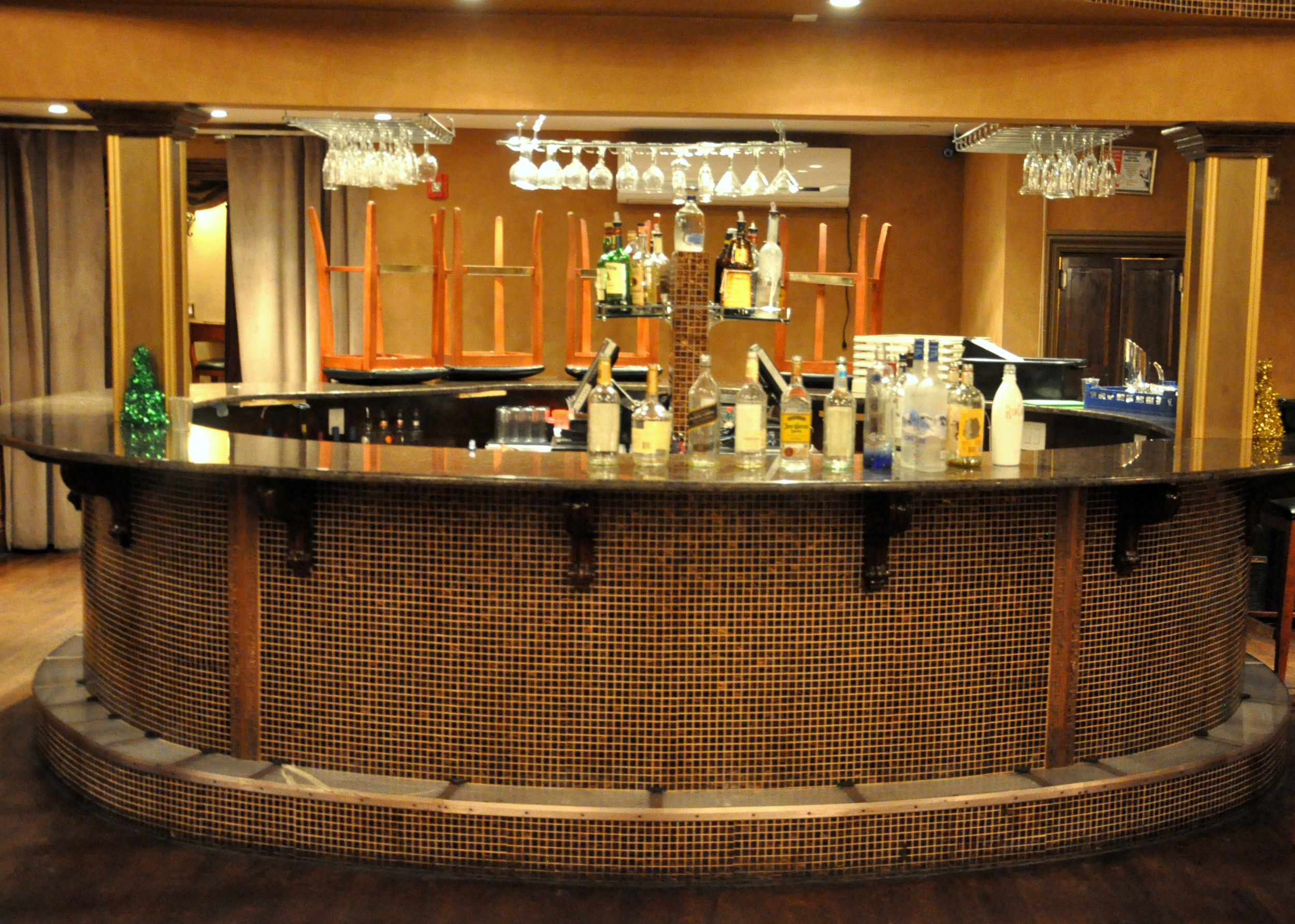 Finished Tiled Dining room bar