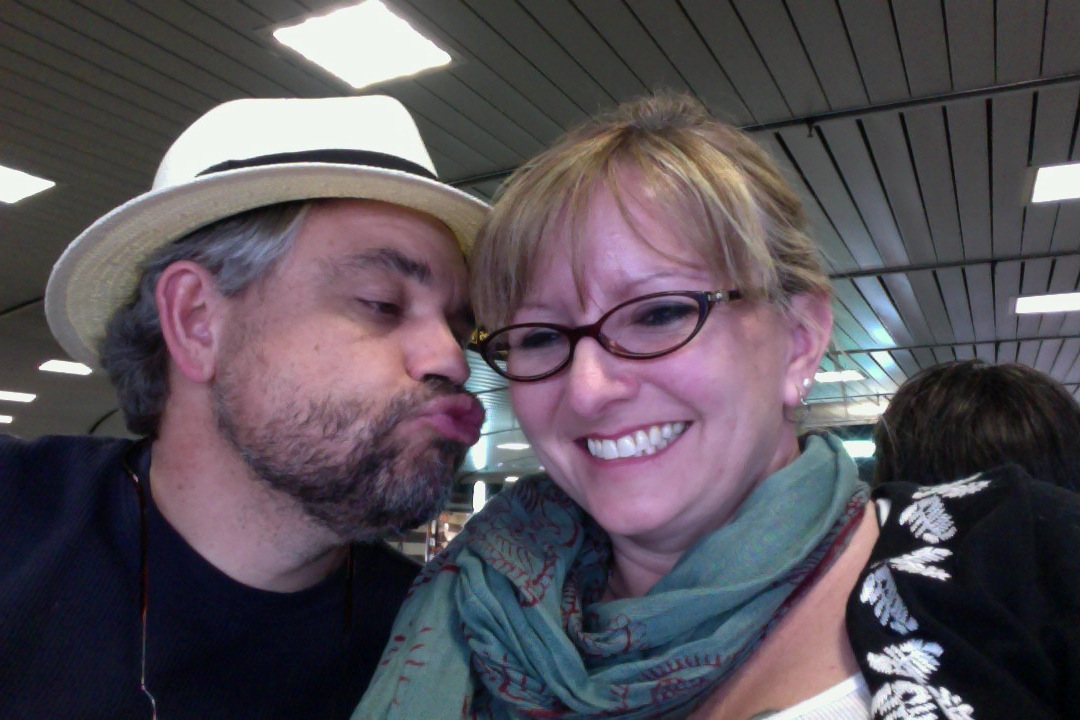 Waiting to Board Our Flight to Paris.