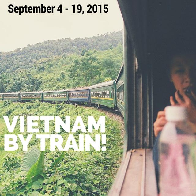The Reunification Express travelling through Vietnam by Santi Llobet