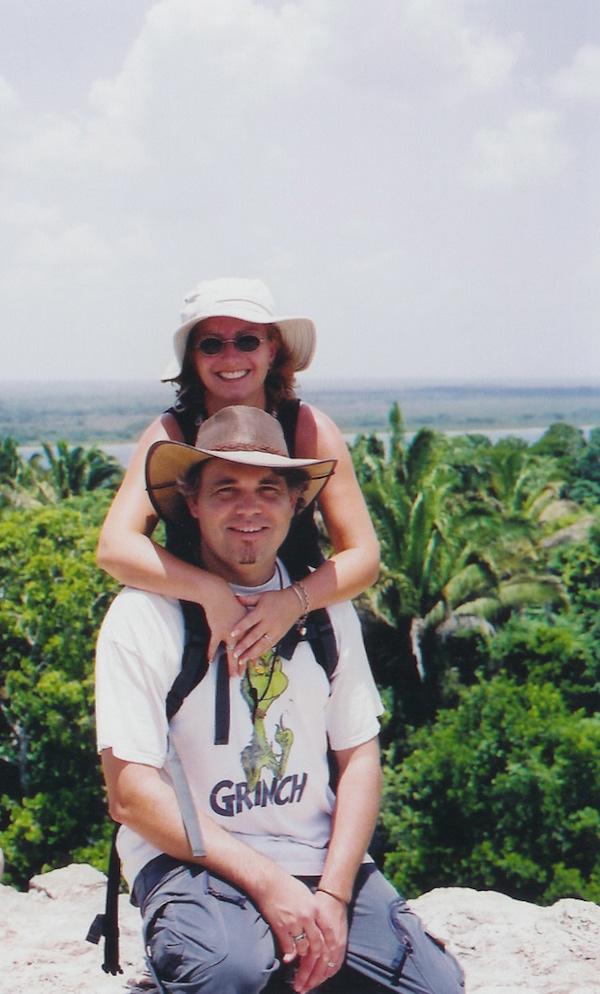 Sheila & Evo, Belize 2004. Image by Sheila Dee.