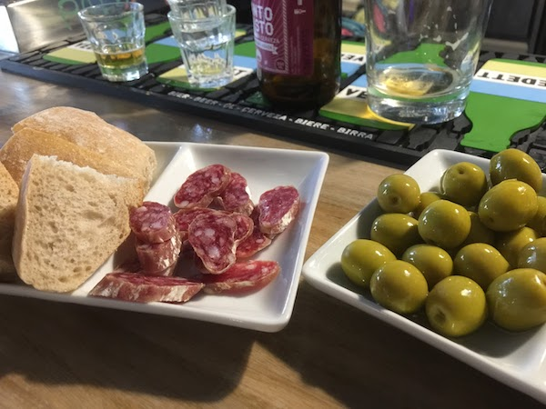 Free tapas from BeerLab in Santiago de Compostela. Because Spain.