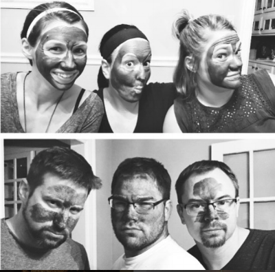 A mud mask party with Mary K consultant Kelly Tetens.  Just one example of lively commune activity.