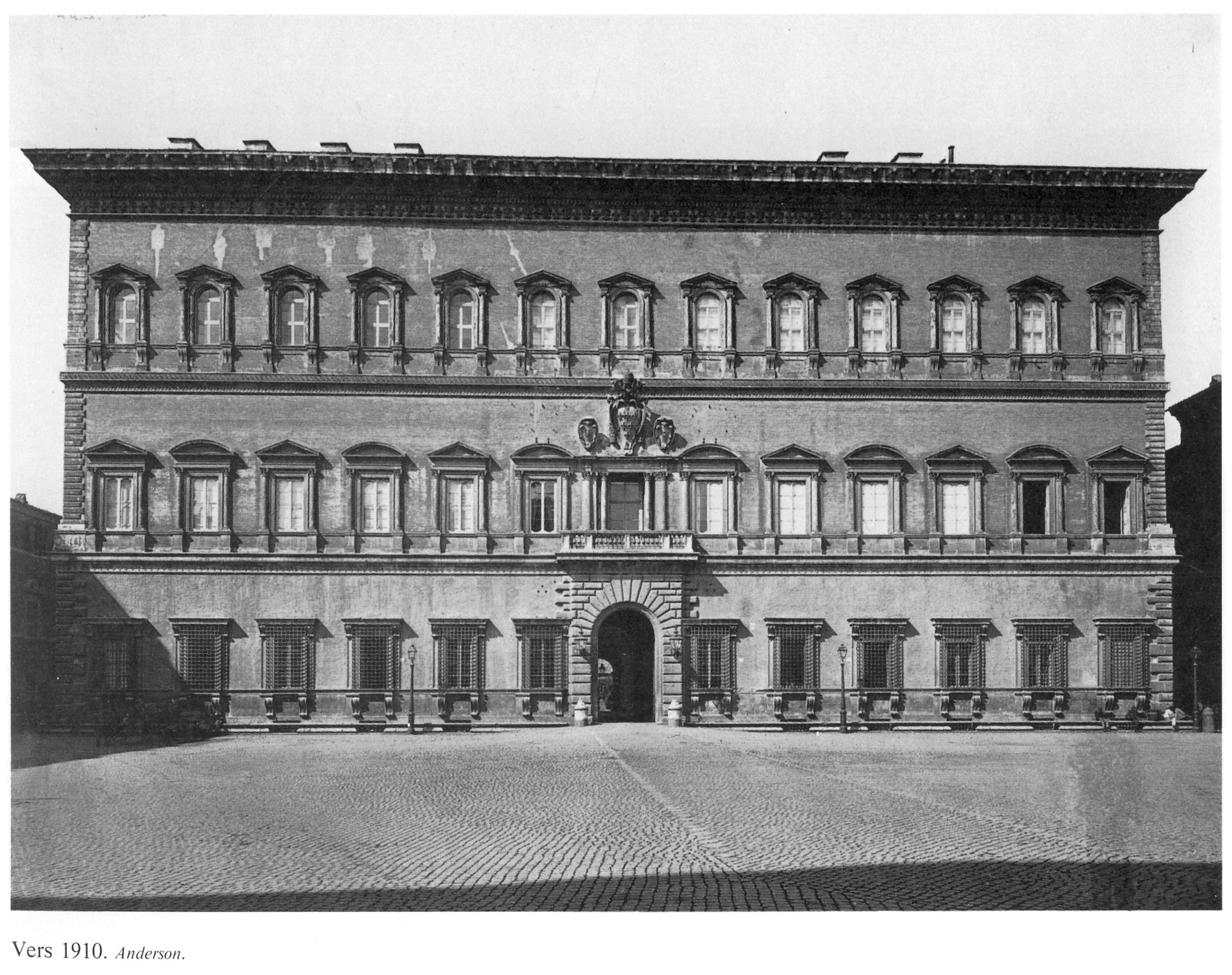 Palazzo Farnese nel 1910