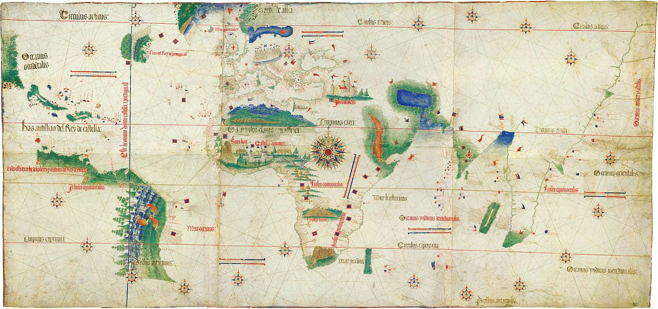 Cantino planisphere (1502)   (by wikimedia.commons)