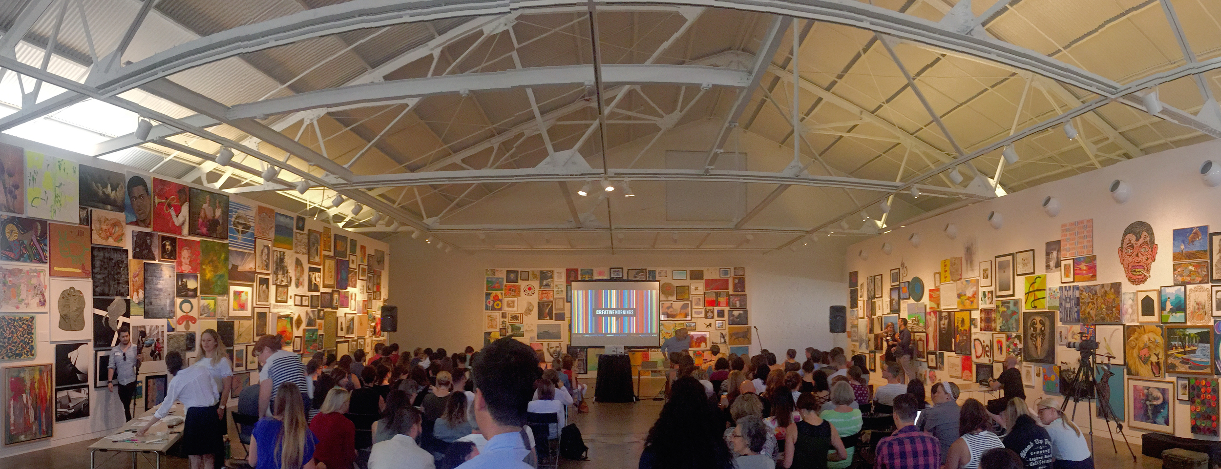Taken via iPhone pano at  Creative Mornings RDU ...amazing group, you should totally check it out.