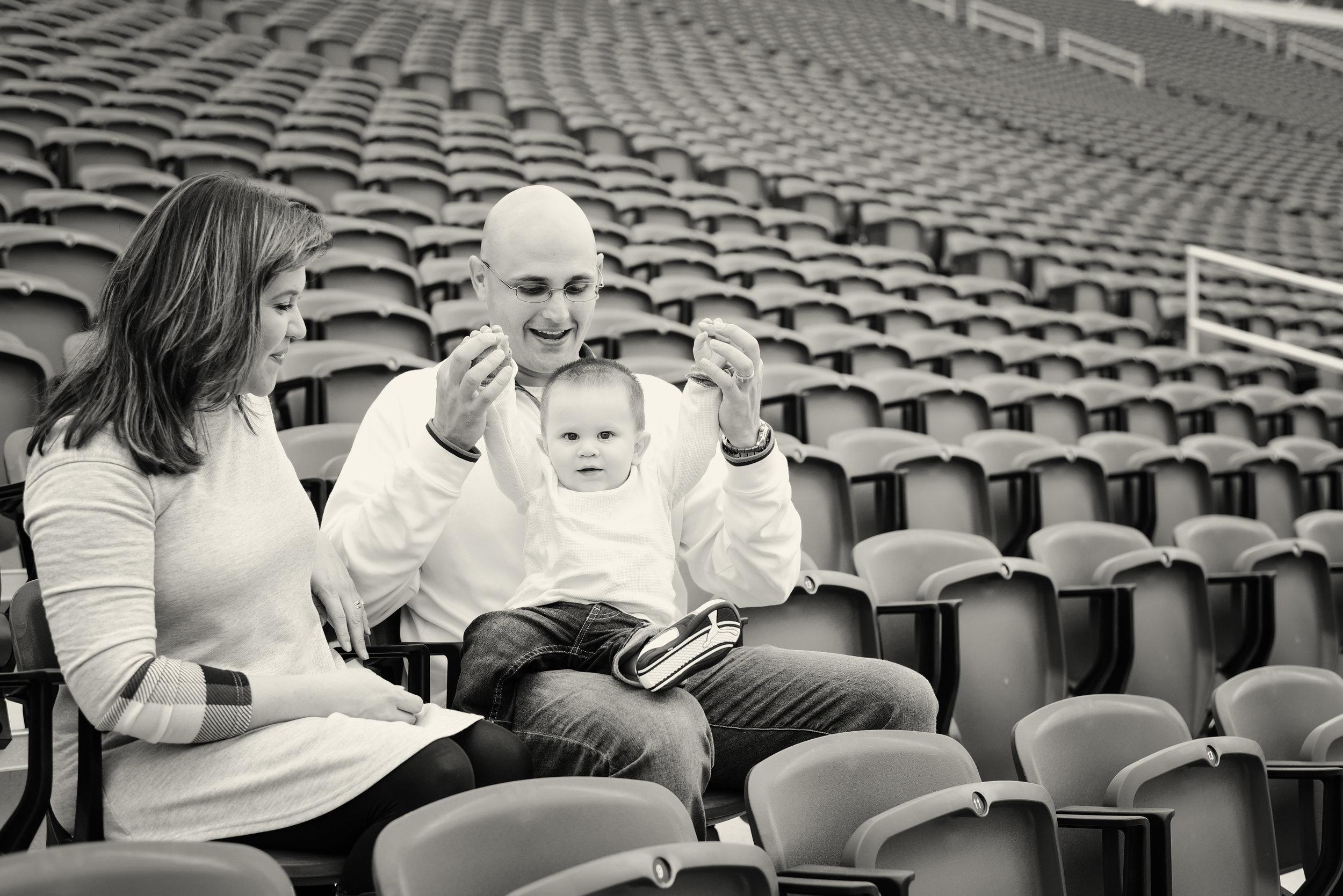 Family Photos at Wallace Wade Stadium