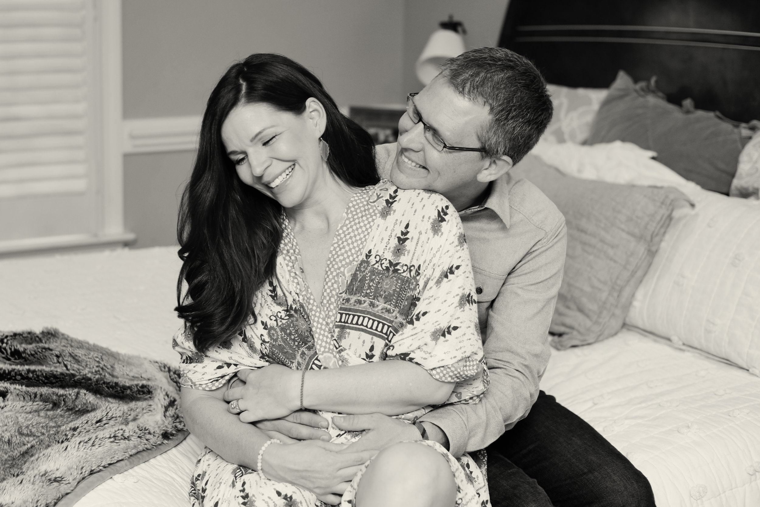 Maternity photography home session