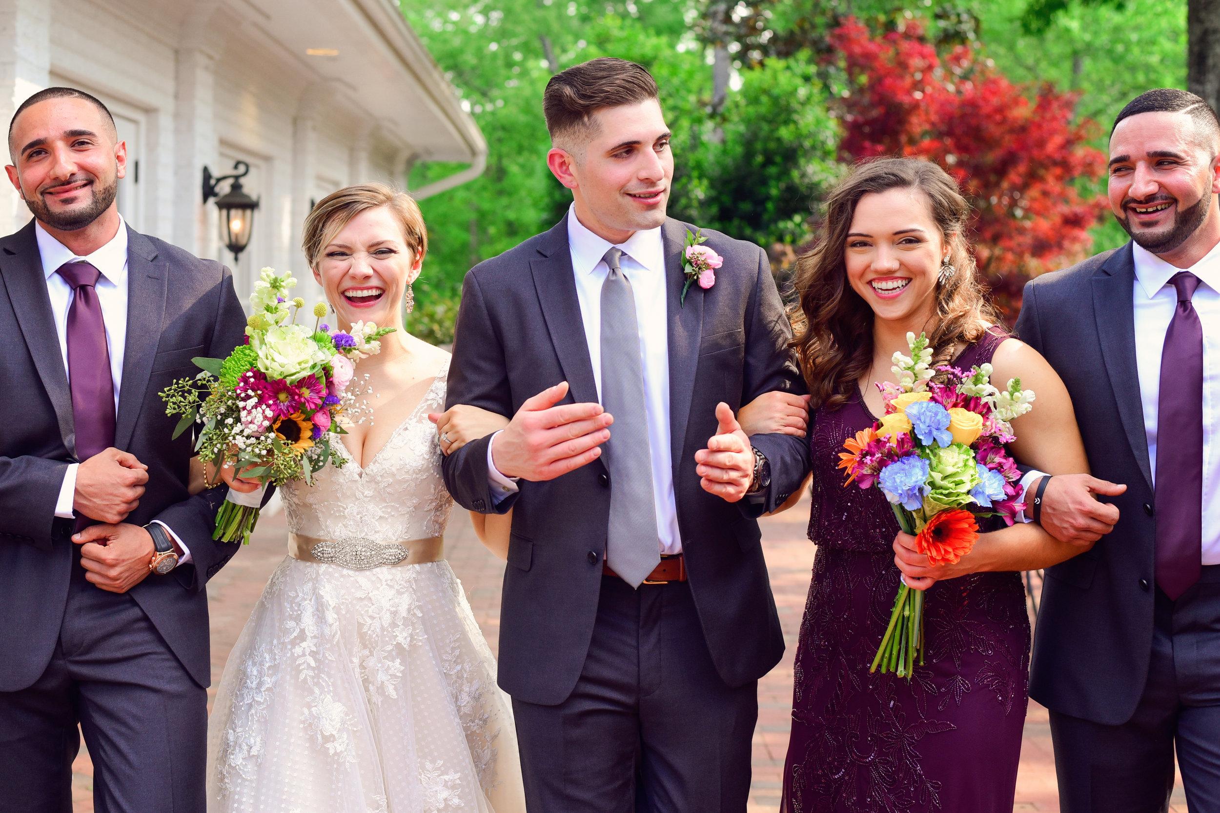 Highgrove Estate bridal party