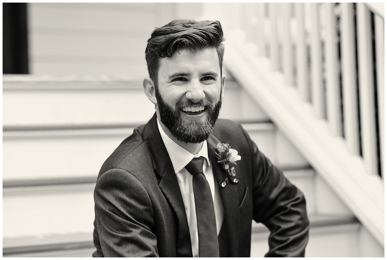Oaks of Salem Wedding groom