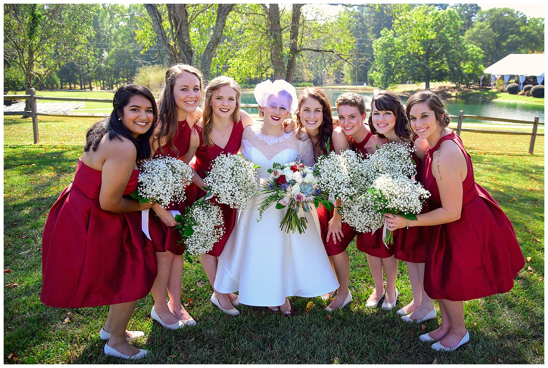 Oaks of Salem Wedding bridesmaids