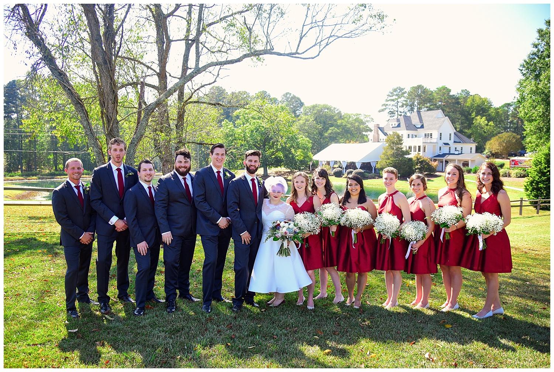 Oaks of Salem Wedding party