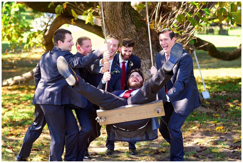 Oaks of Salem Wedding groomsmen