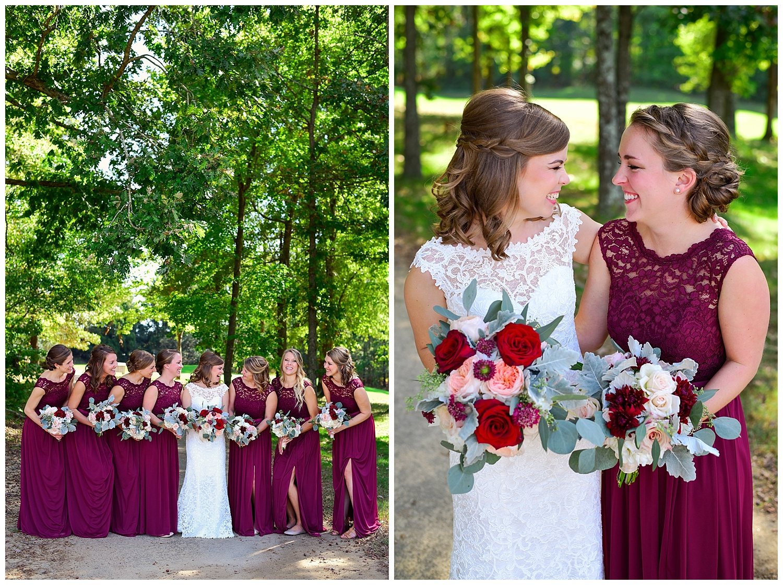 Golf Course Wedding bridesmaids