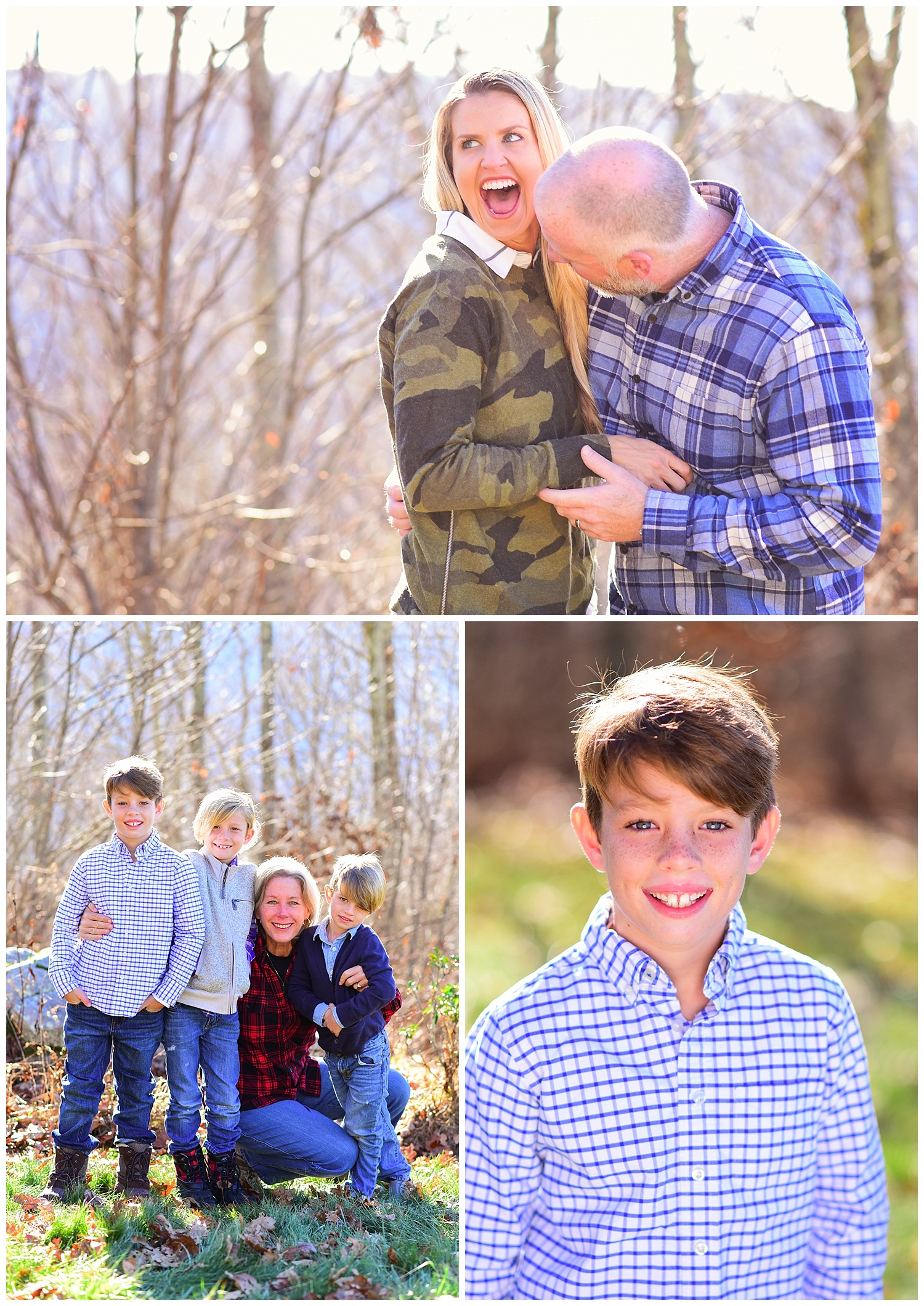 Extended family photos in the mountains