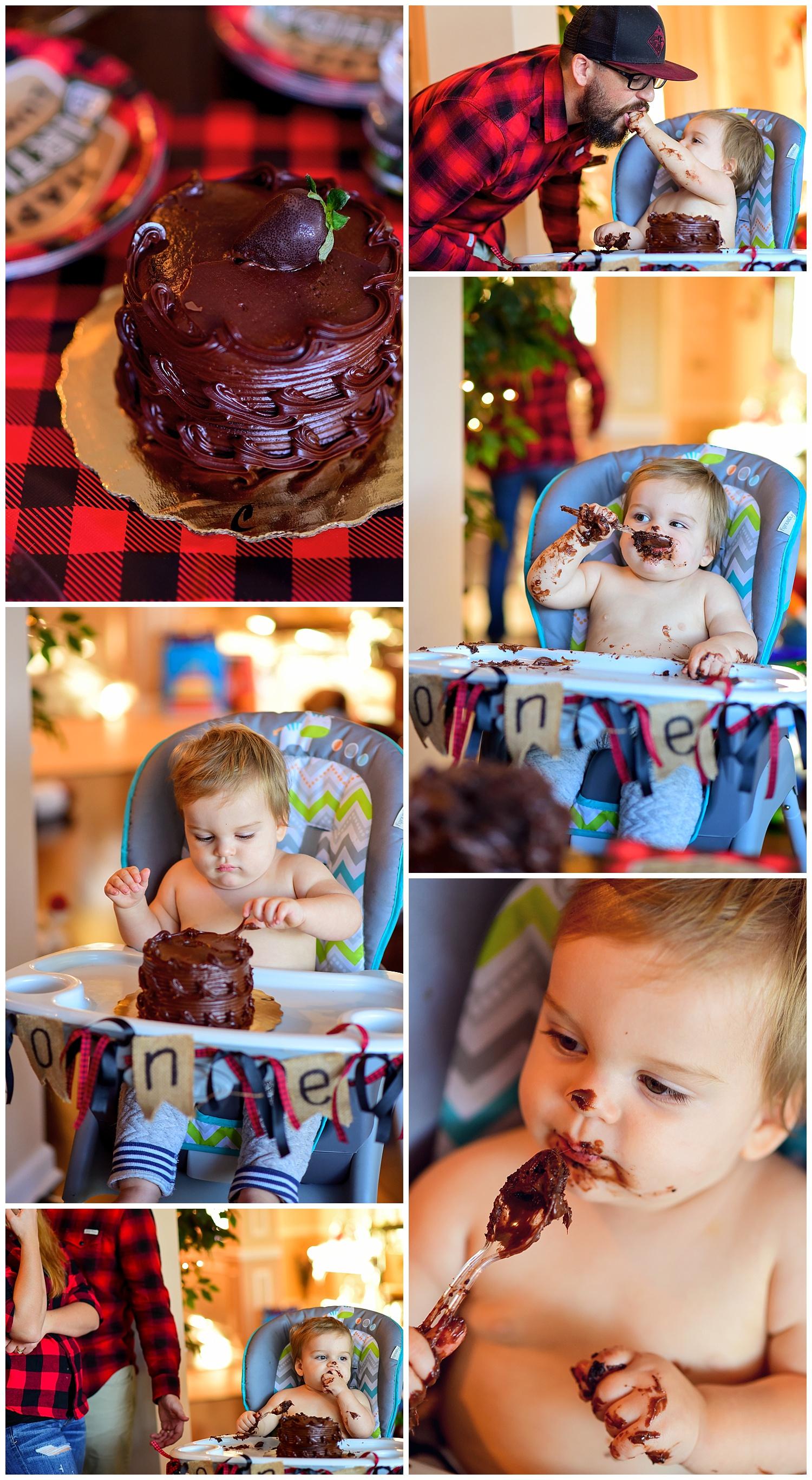 Lumberjack Themed Cake Smash