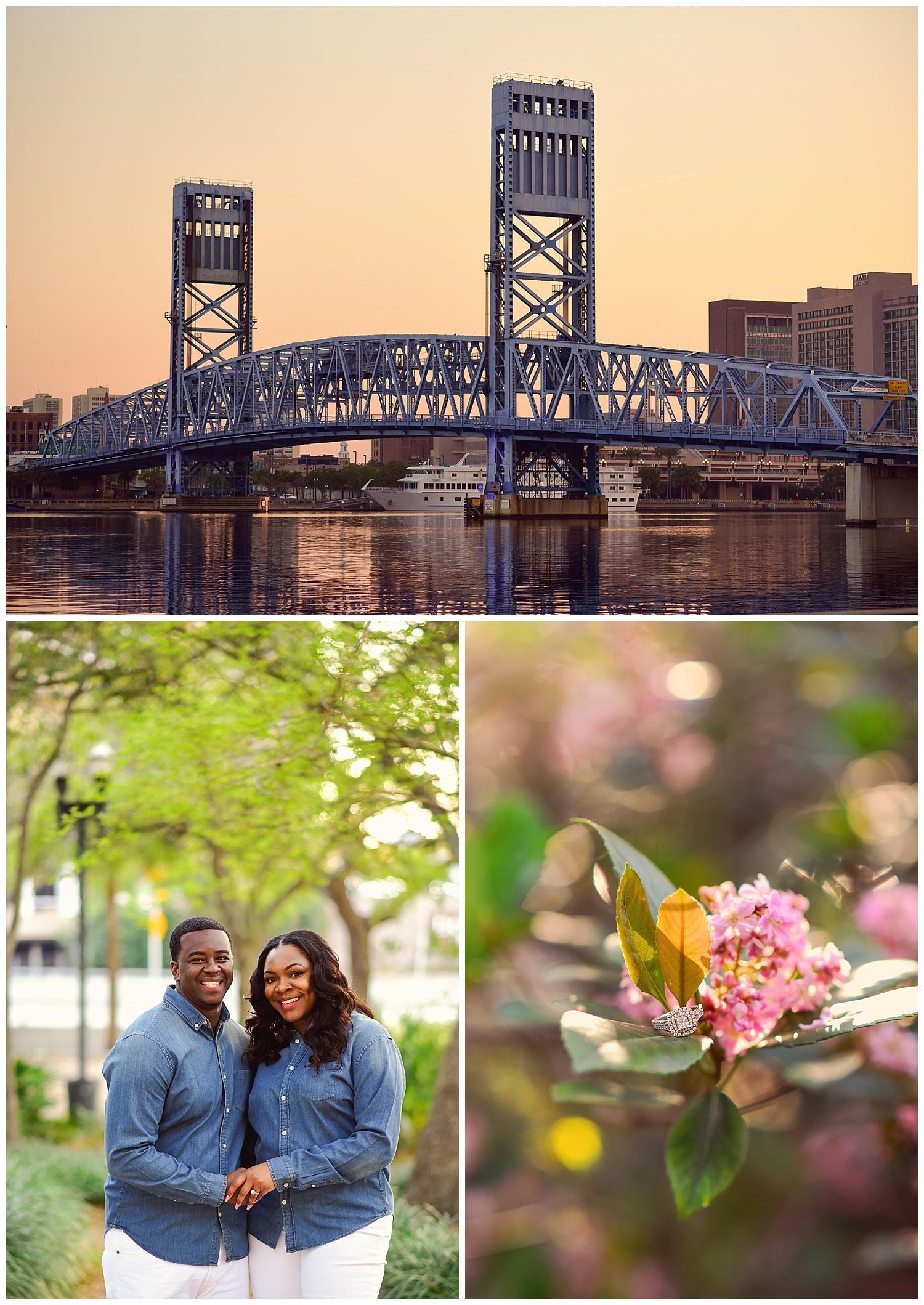 Jacksonville Skyline Engagement Photos