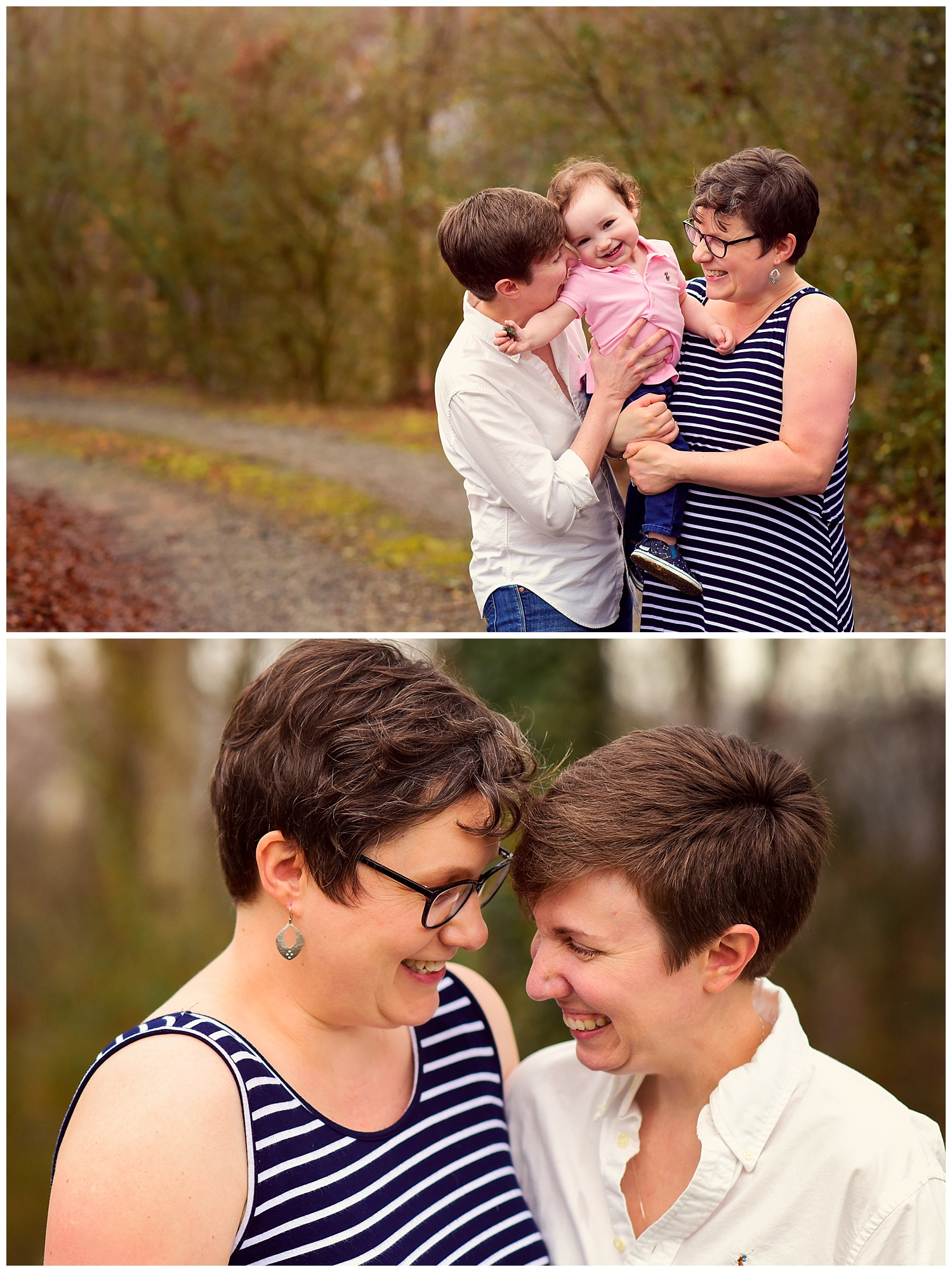 Photo shoot with Lesbian couple and daughter