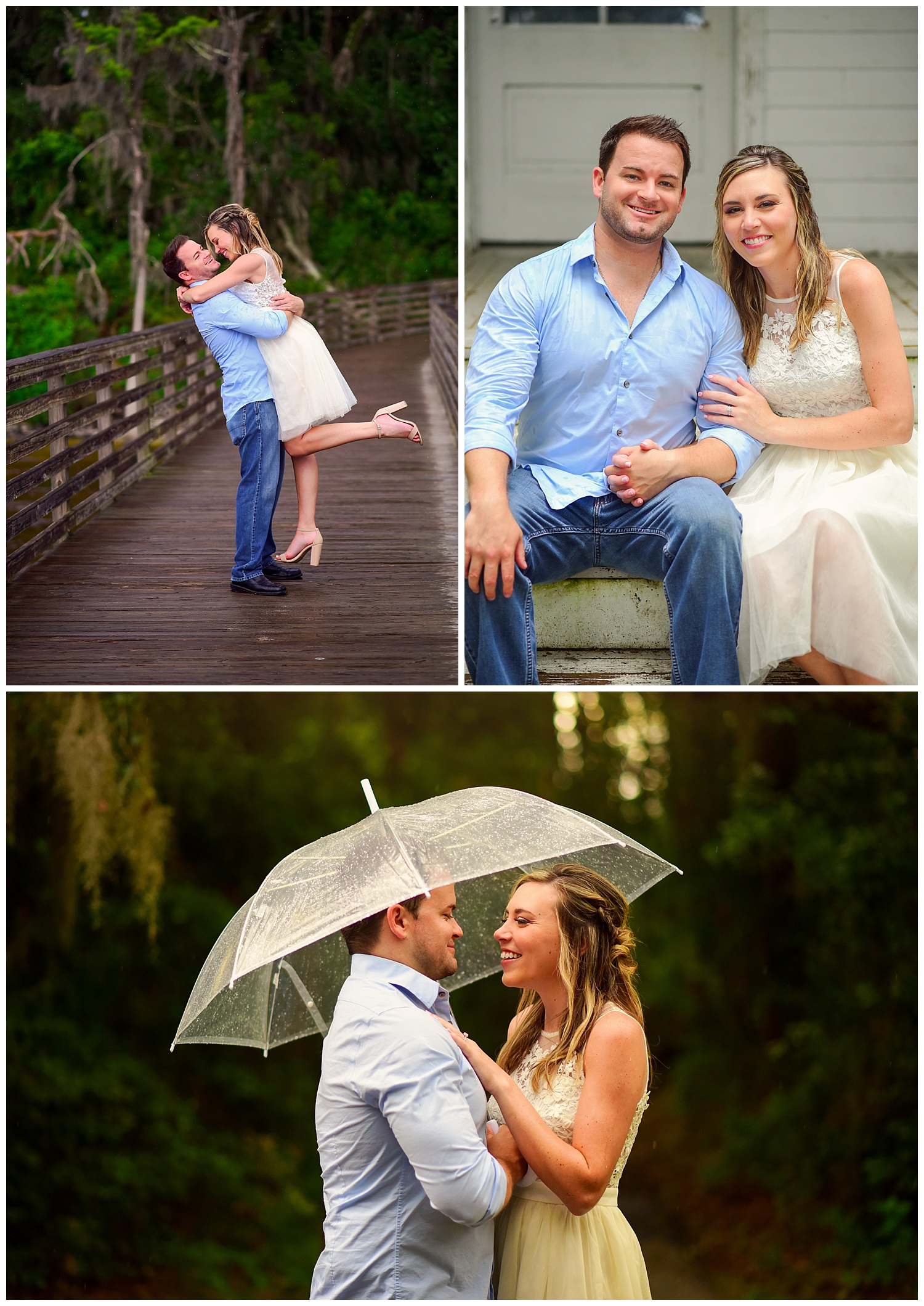 Rainy engagement shoot